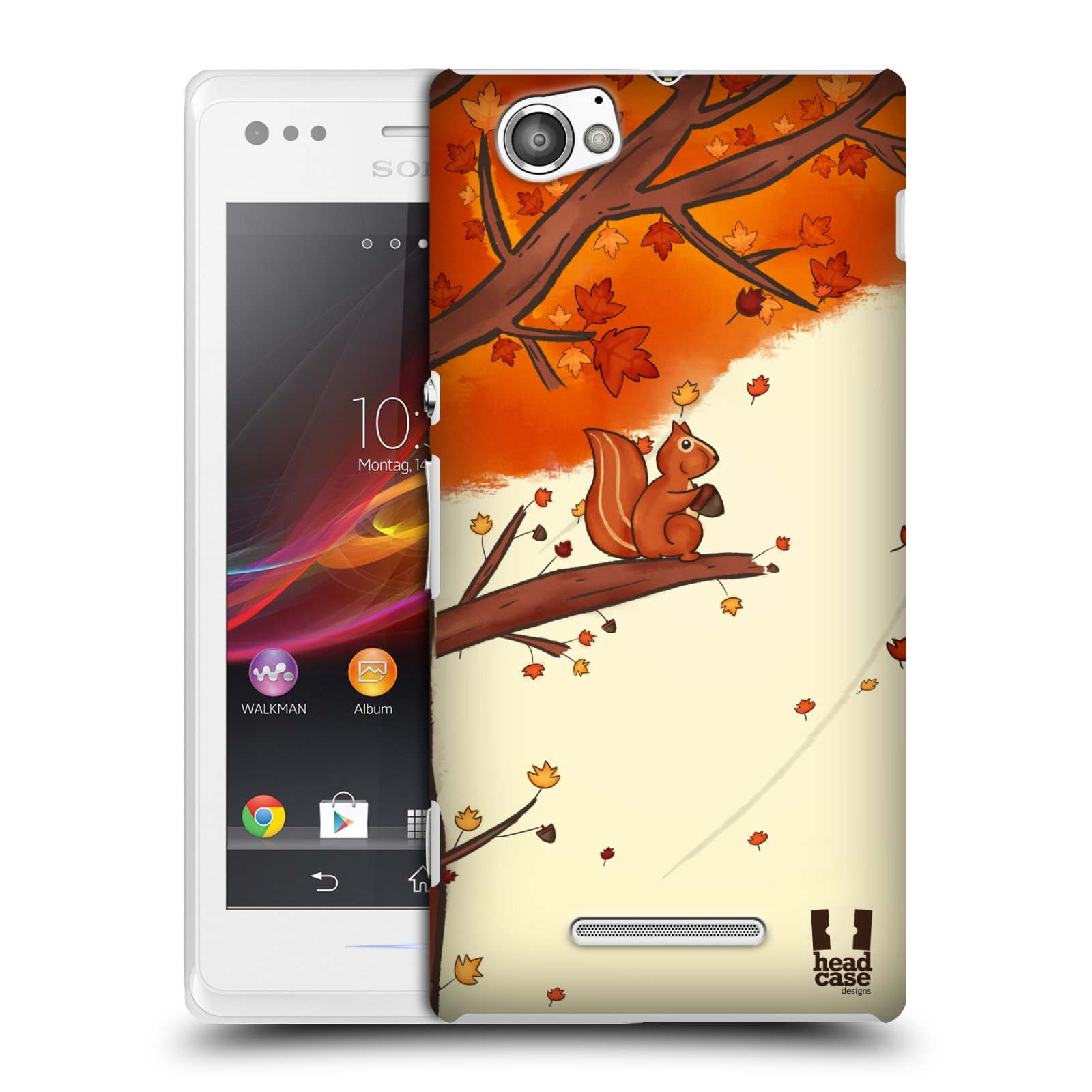 Plastové pouzdro na mobil Sony Xperia M C1905 HEAD CASE PODZIMNÍ VEVERKA