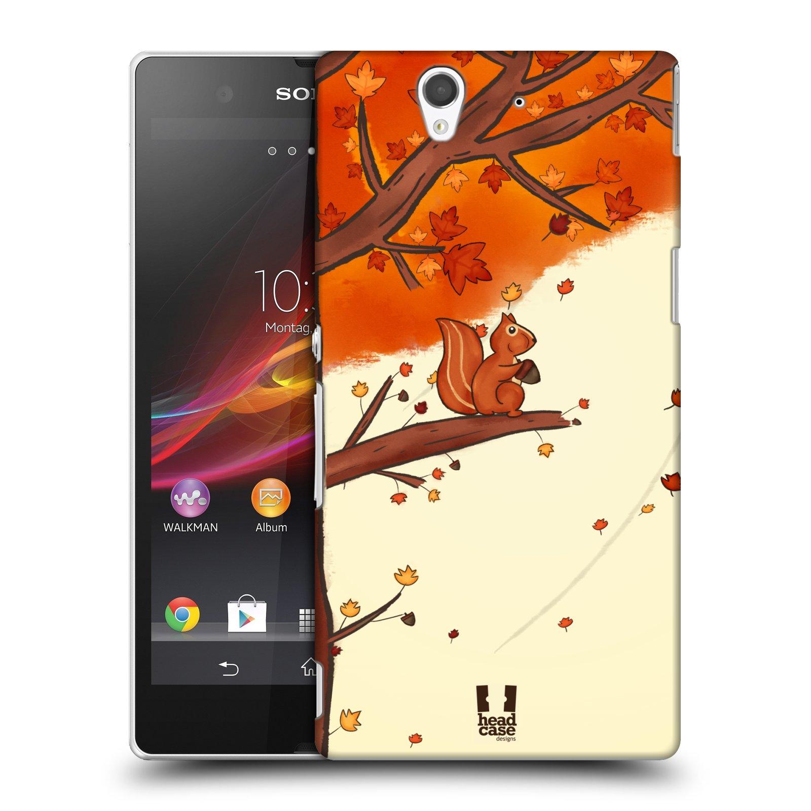 Plastové pouzdro na mobil Sony Xperia Z C6603 HEAD CASE PODZIMNÍ VEVERKA
