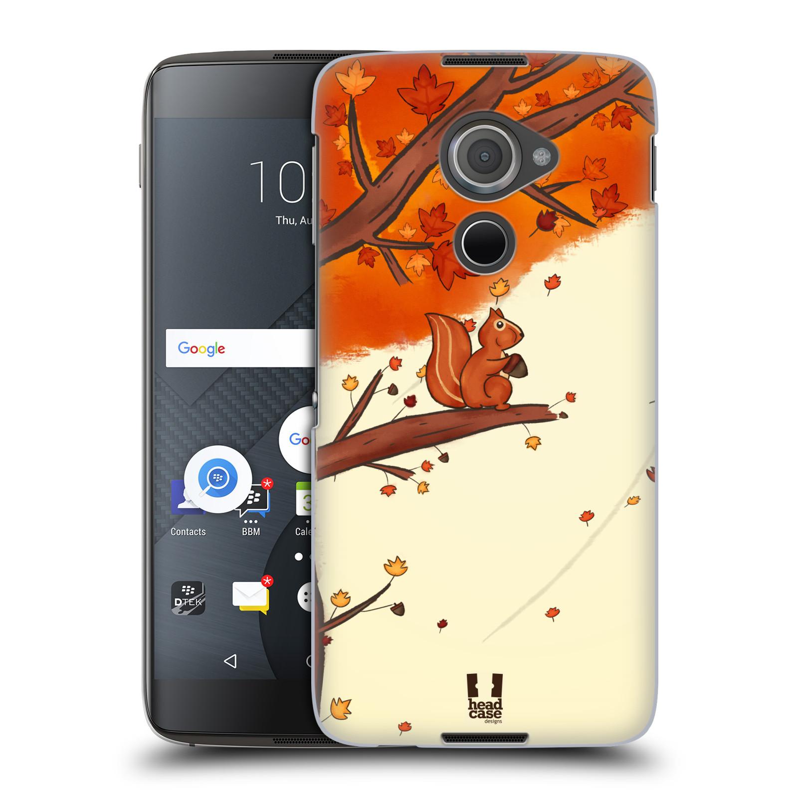 Plastové pouzdro na mobil Blackberry DTEK60 (Argon) - Head Case PODZIMNÍ VEVERKA