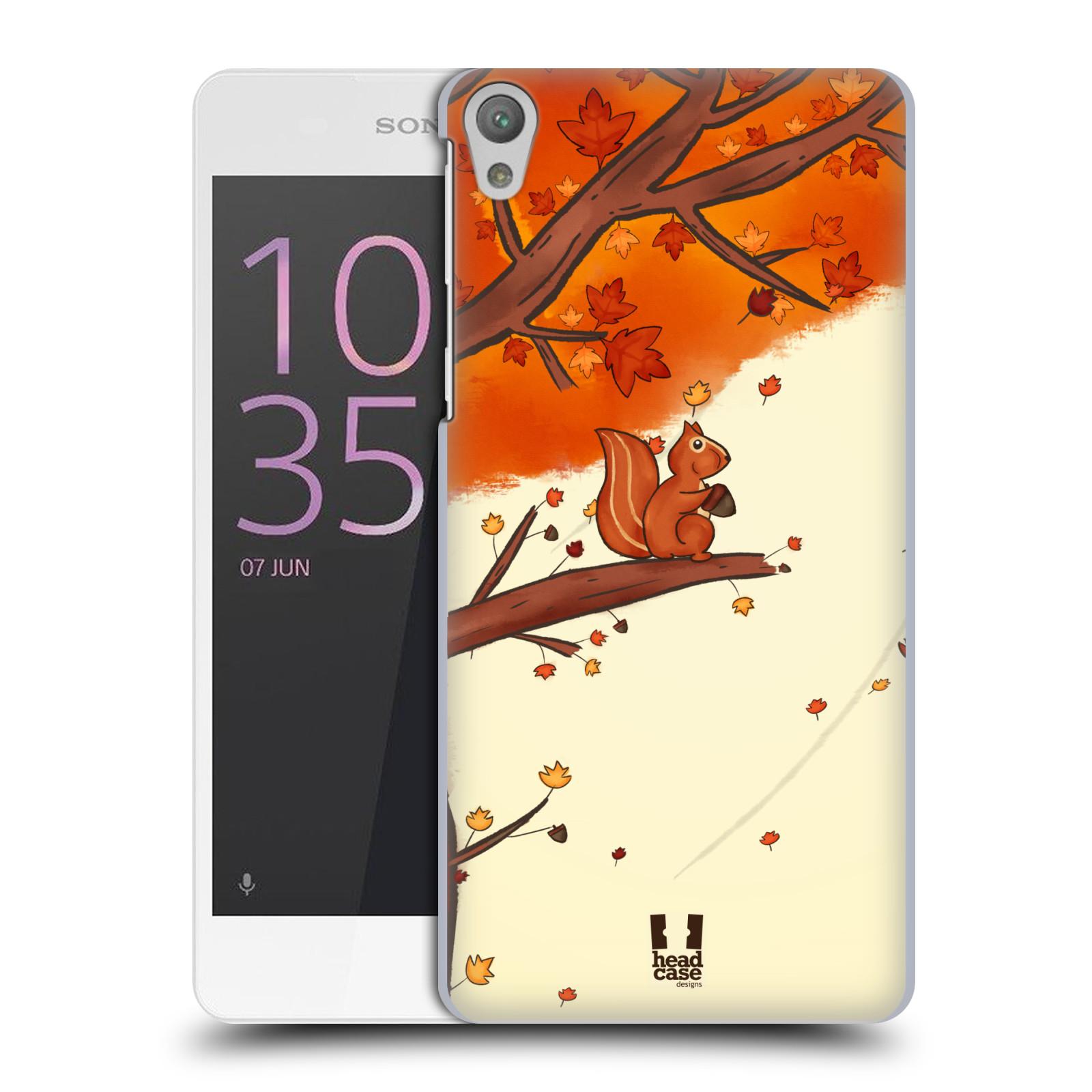 Plastové pouzdro na mobil Sony Xperia E5 HEAD CASE PODZIMNÍ VEVERKA