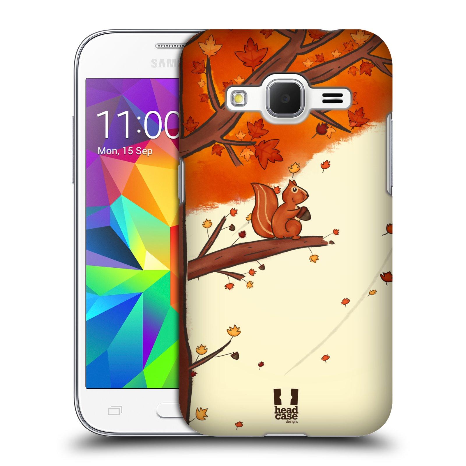 Plastové pouzdro na mobil Samsung Galaxy Core Prime LTE HEAD CASE PODZIMNÍ VEVERKA