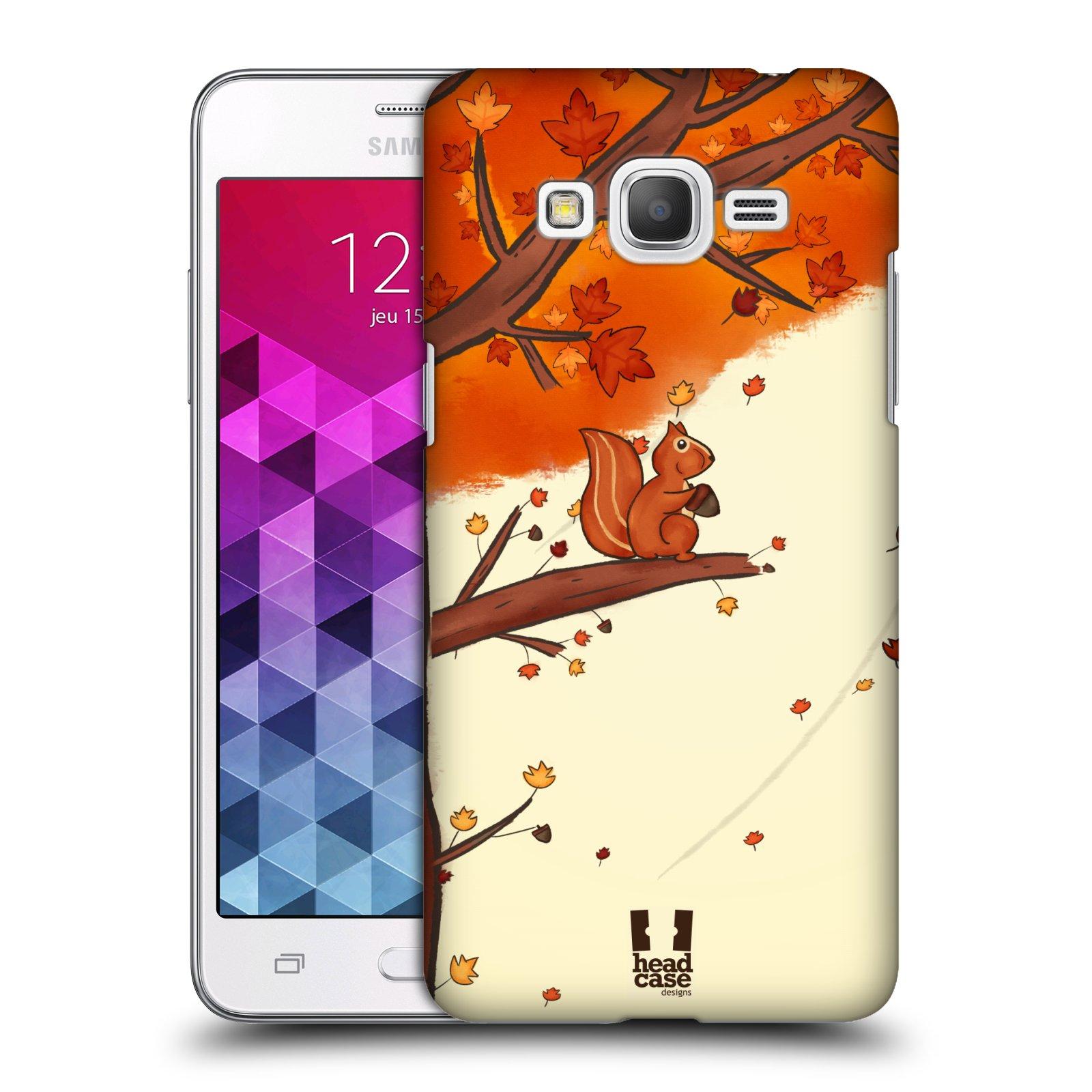Plastové pouzdro na mobil Samsung Galaxy Grand Prime HEAD CASE PODZIMNÍ VEVERKA