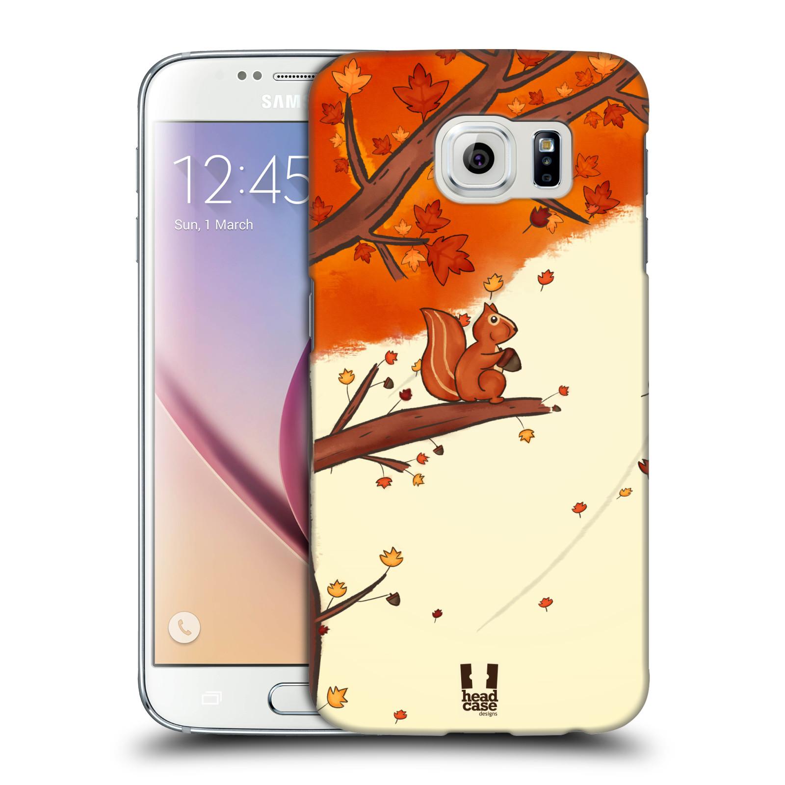 Plastové pouzdro na mobil Samsung Galaxy S6 HEAD CASE PODZIMNÍ VEVERKA