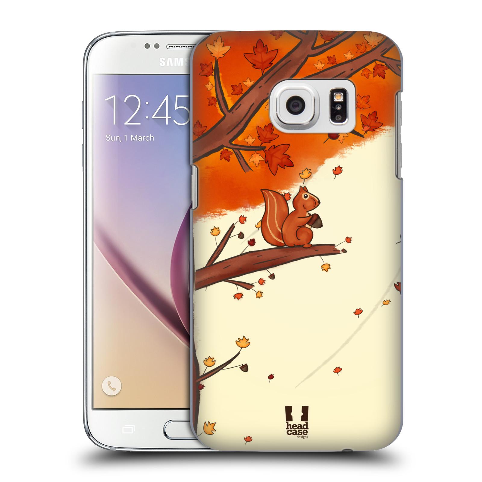 Plastové pouzdro na mobil Samsung Galaxy S7 HEAD CASE PODZIMNÍ VEVERKA (Kryt či obal na mobilní telefon Samsung Galaxy S7 SM-G930F)