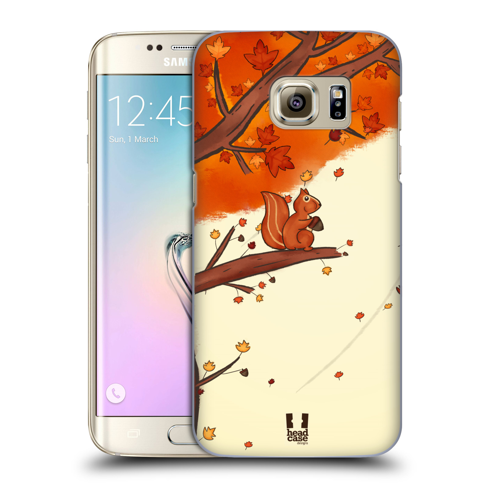 Plastové pouzdro na mobil Samsung Galaxy S7 Edge HEAD CASE PODZIMNÍ VEVERKA