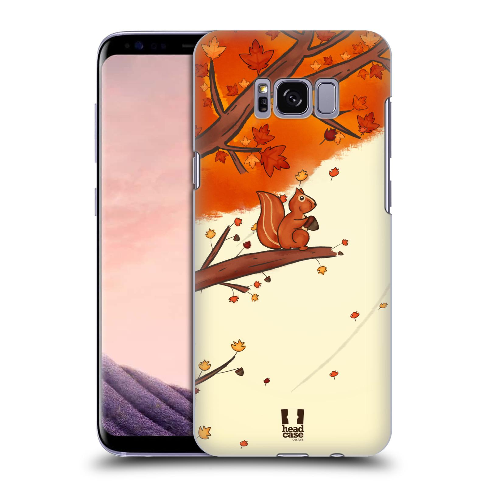 Plastové pouzdro na mobil Samsung Galaxy S8 Head Case PODZIMNÍ VEVERKA