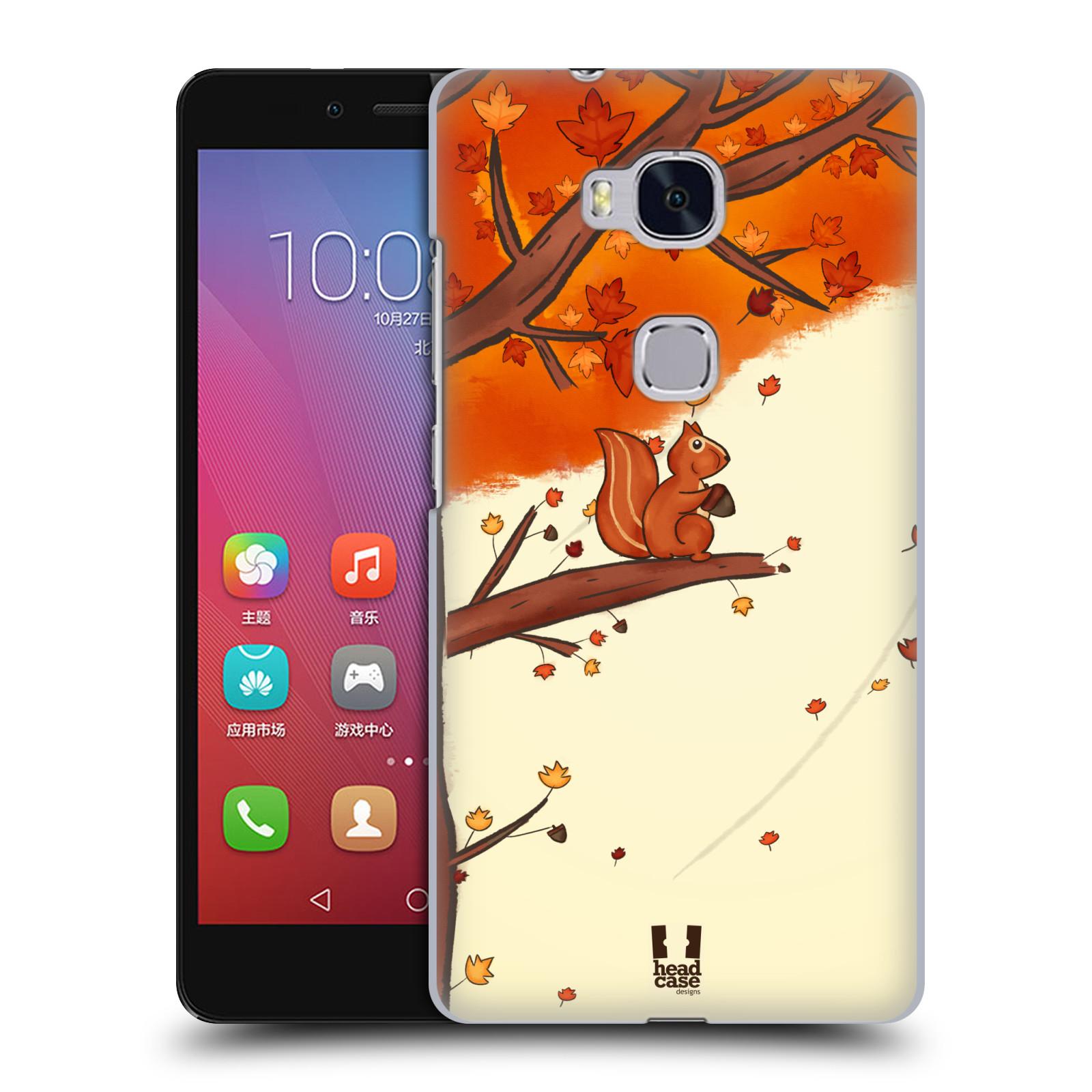 Plastové pouzdro na mobil Honor 5X HEAD CASE PODZIMNÍ VEVERKA