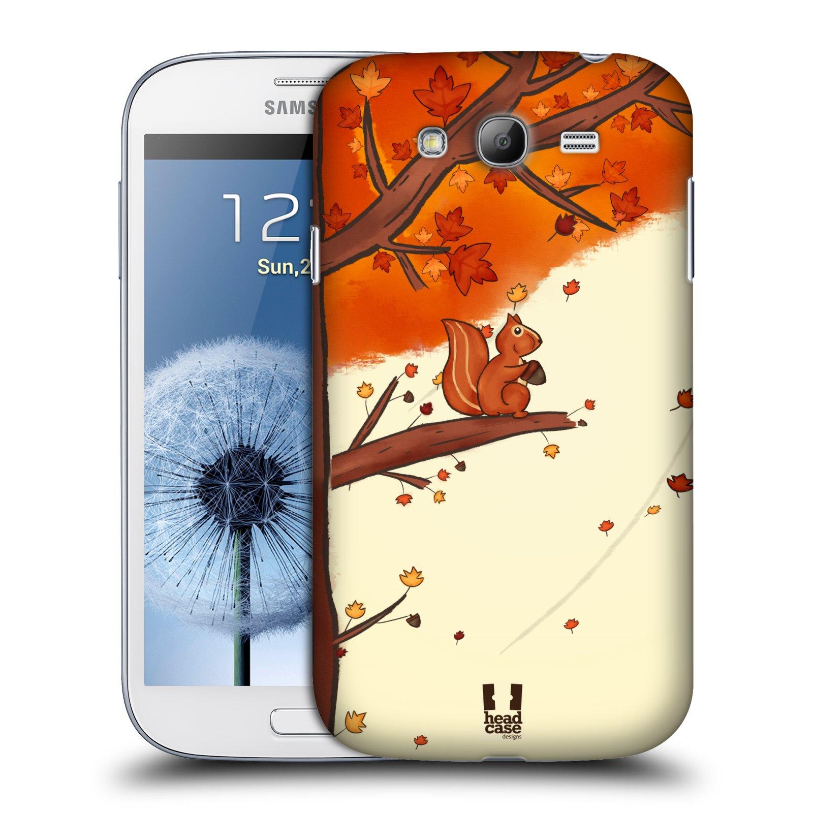 Plastové pouzdro na mobil Samsung Galaxy Grand Neo Plus HEAD CASE PODZIMNÍ VEVERKA