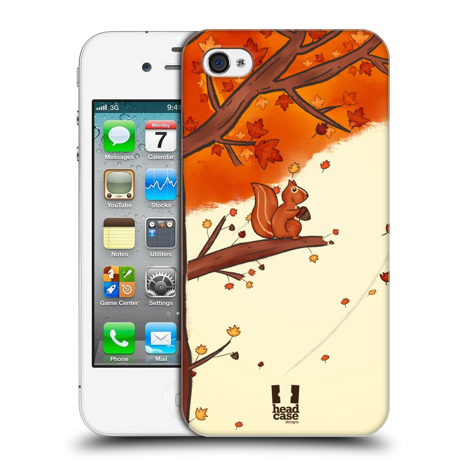 Plastové pouzdro na mobil Apple iPhone 4 a 4S HEAD CASE PODZIMNÍ VEVERKA