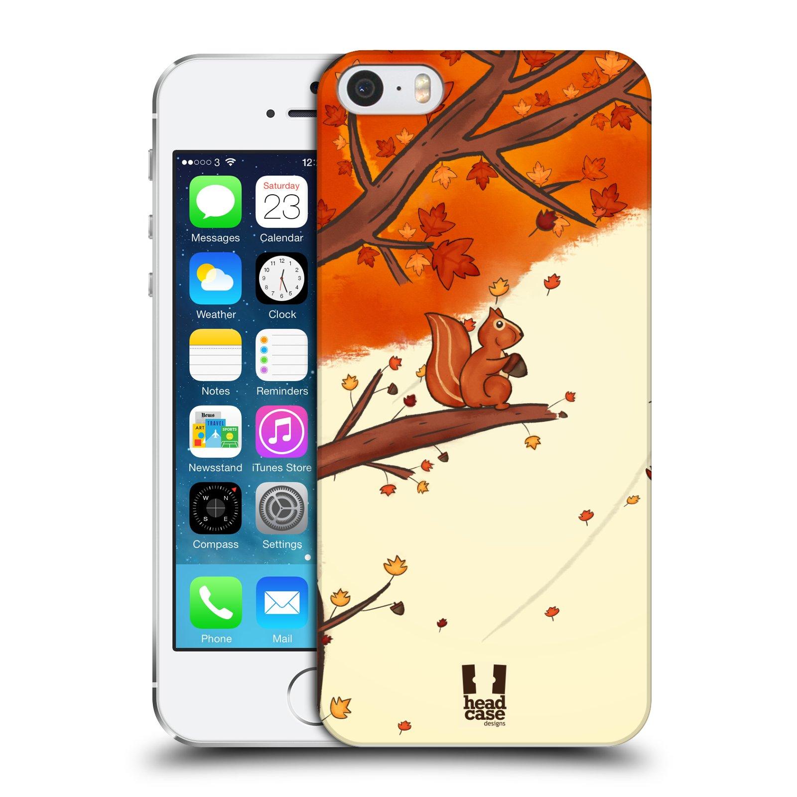 Plastové pouzdro na mobil Apple iPhone SE, 5 a 5S HEAD CASE PODZIMNÍ VEVERKA