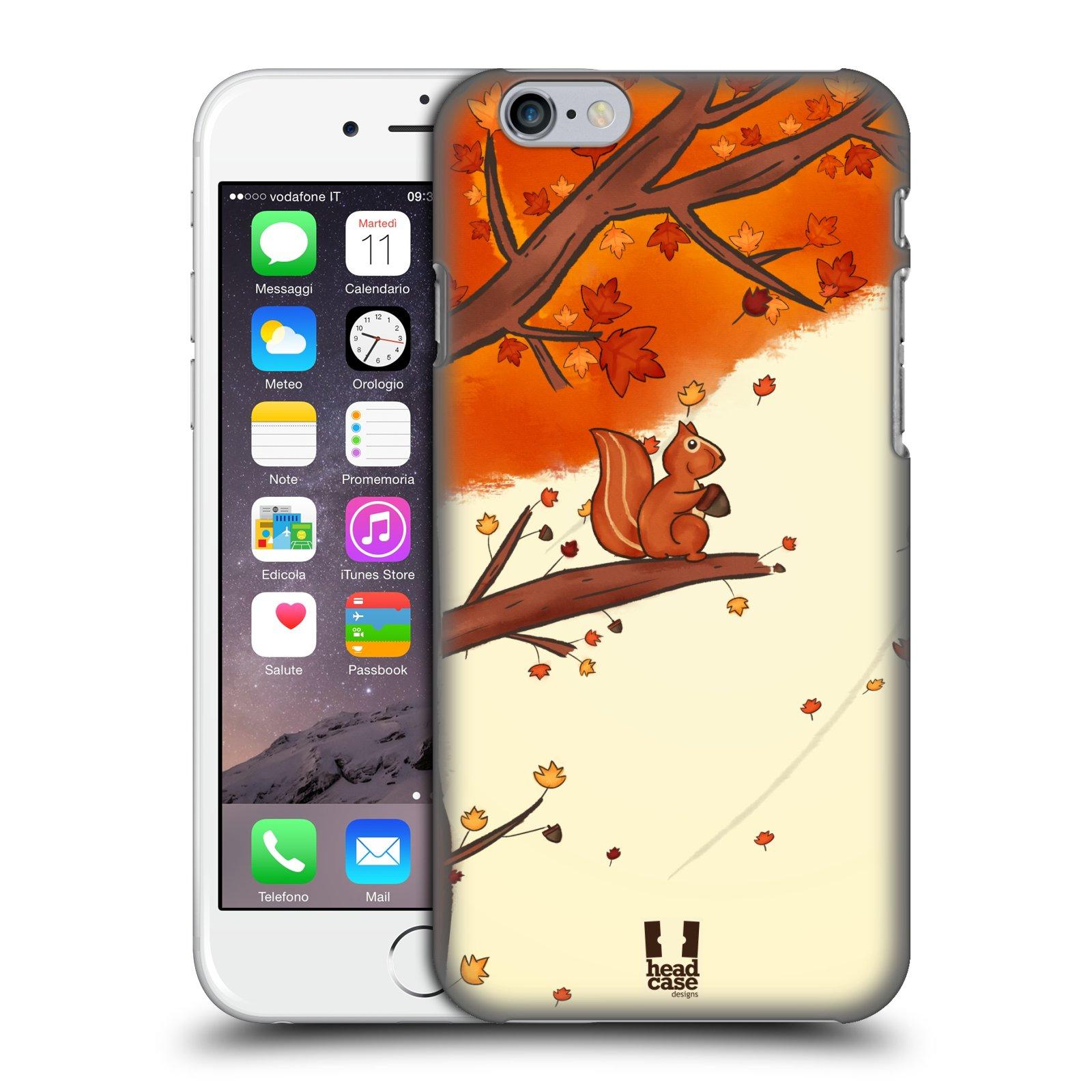 Plastové pouzdro na mobil Apple iPhone 6 a 6S HEAD CASE PODZIMNÍ VEVERKA