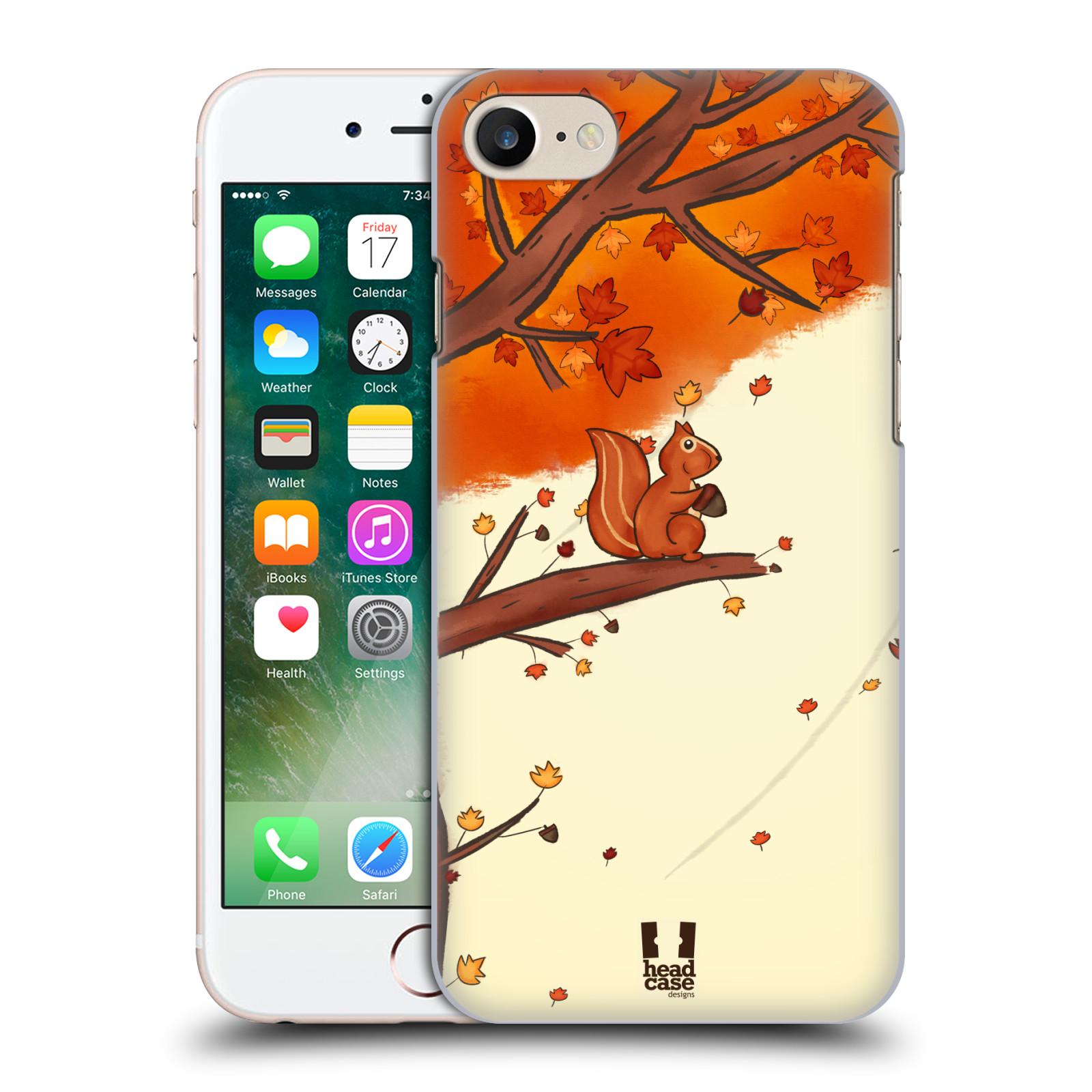 Plastové pouzdro na mobil Apple iPhone 7 HEAD CASE PODZIMNÍ VEVERKA