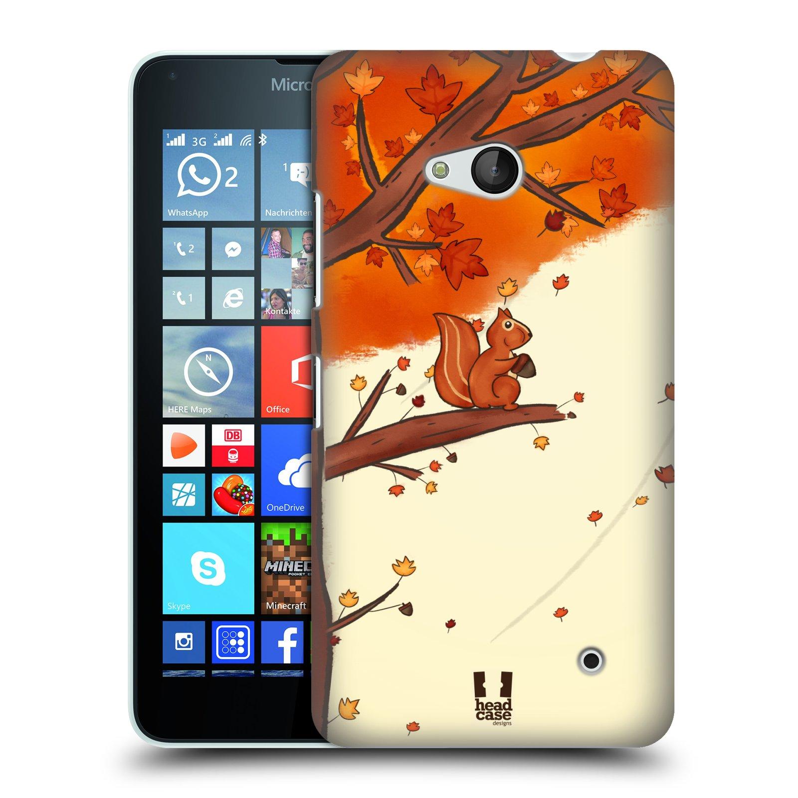 Plastové pouzdro na mobil Microsoft Lumia 640 HEAD CASE PODZIMNÍ VEVERKA