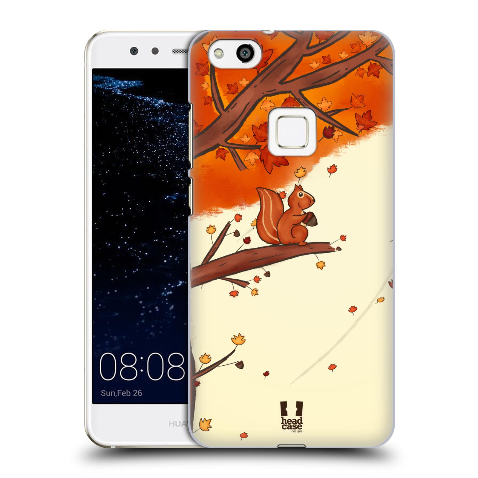 Plastové pouzdro na mobil Huawei P10 Lite Head Case - PODZIMNÍ VEVERKA (Plastový kryt či obal na mobilní telefon Huawei P10 Lite Dual SIM (LX1/LX1A))