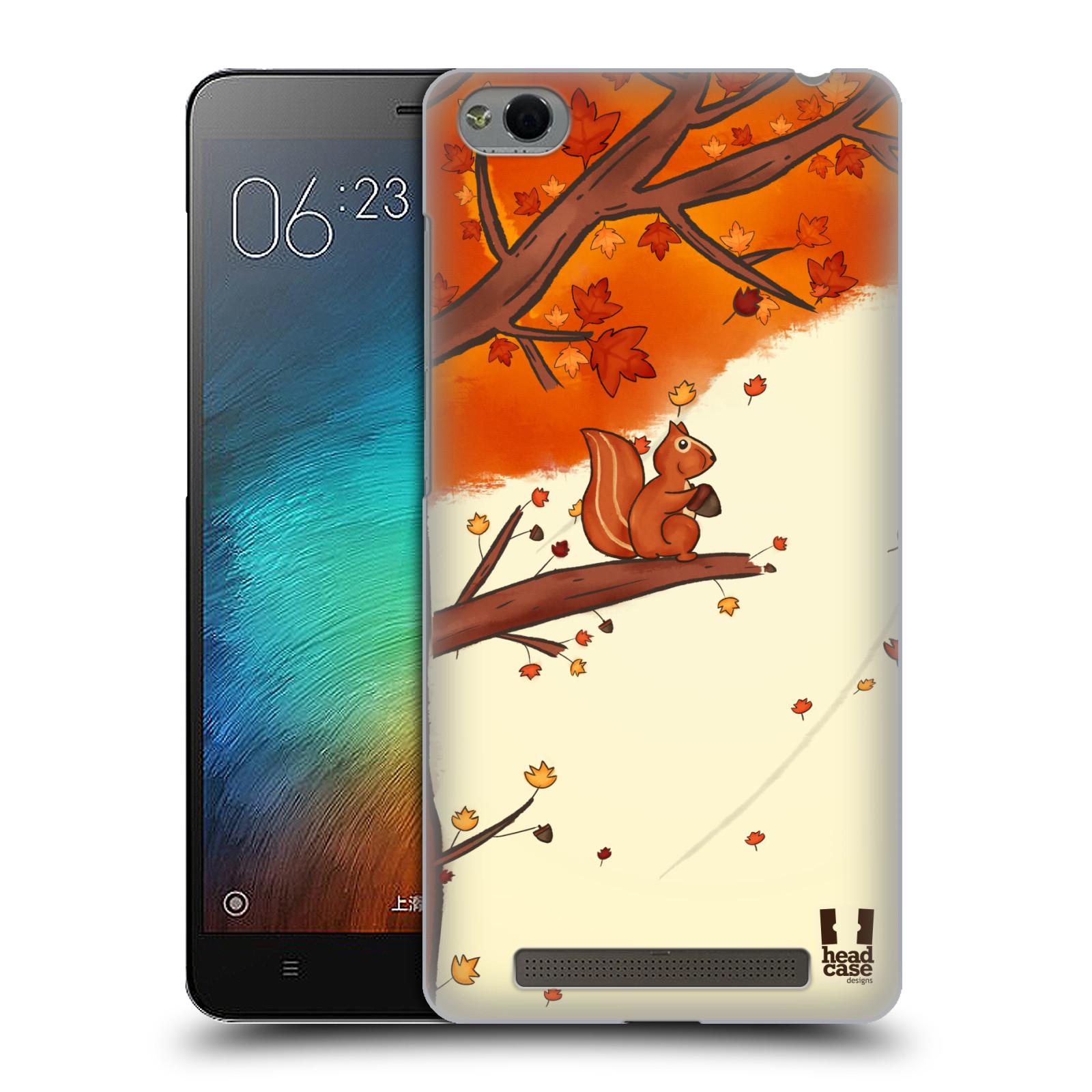 Plastové pouzdro na mobil Xiaomi Redmi 3 HEAD CASE PODZIMNÍ VEVERKA