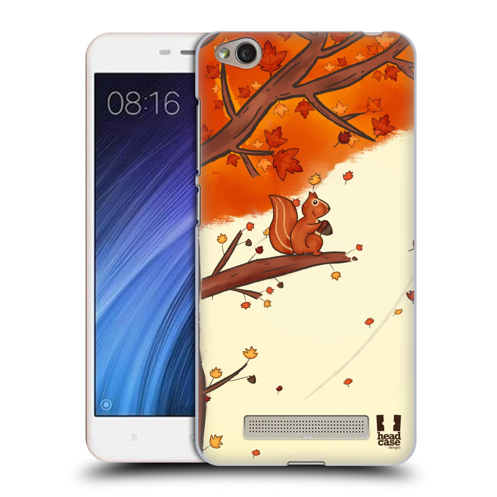Plastové pouzdro na mobil Xiaomi Redmi 4A HEAD CASE PODZIMNÍ VEVERKA