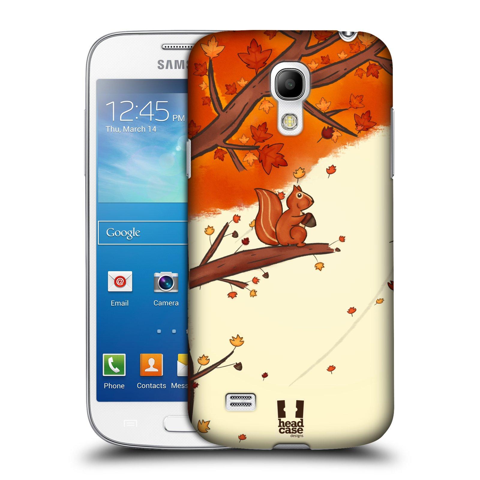 Plastové pouzdro na mobil Samsung Galaxy S4 Mini HEAD CASE PODZIMNÍ VEVERKA