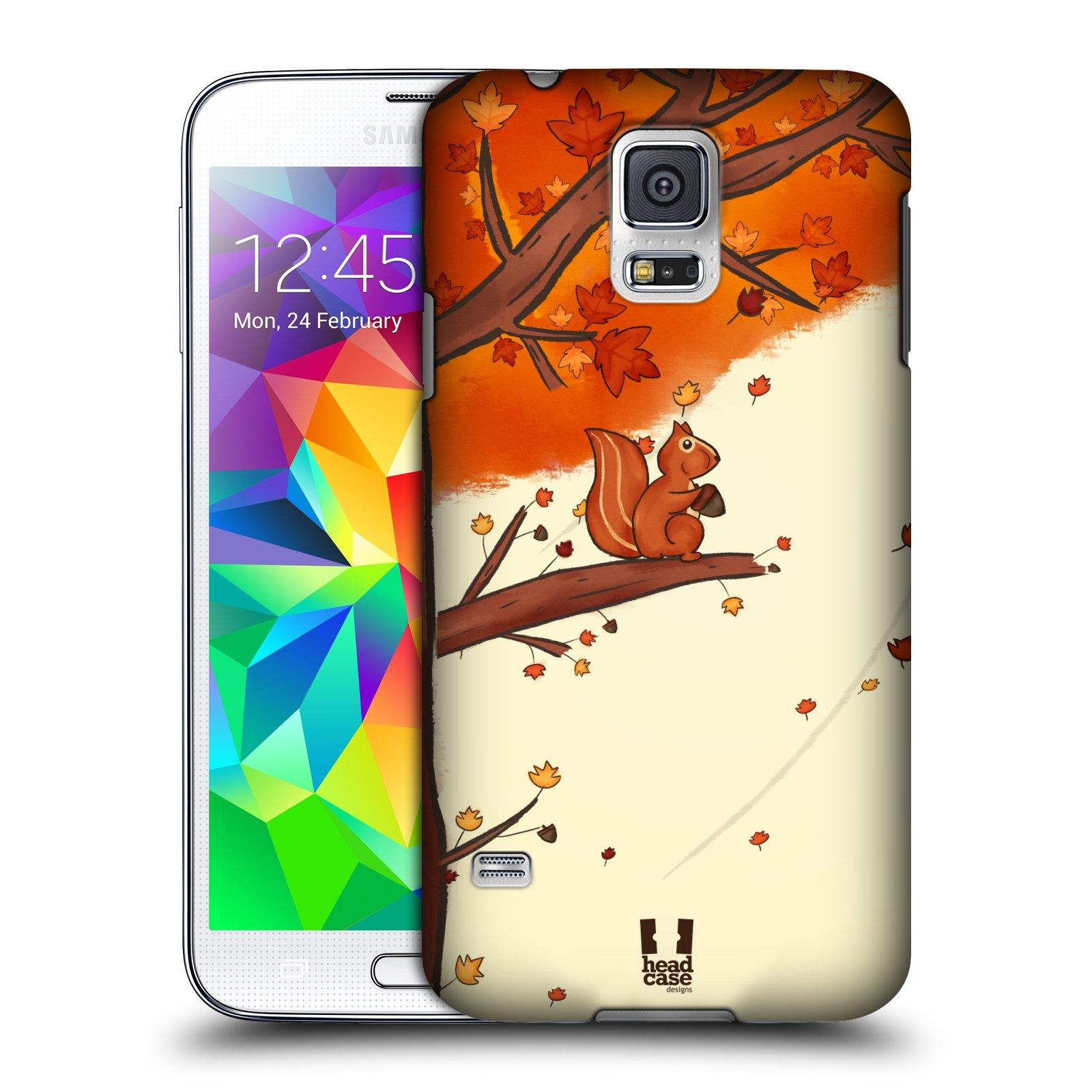 Plastové pouzdro na mobil Samsung Galaxy S5 HEAD CASE PODZIMNÍ VEVERKA