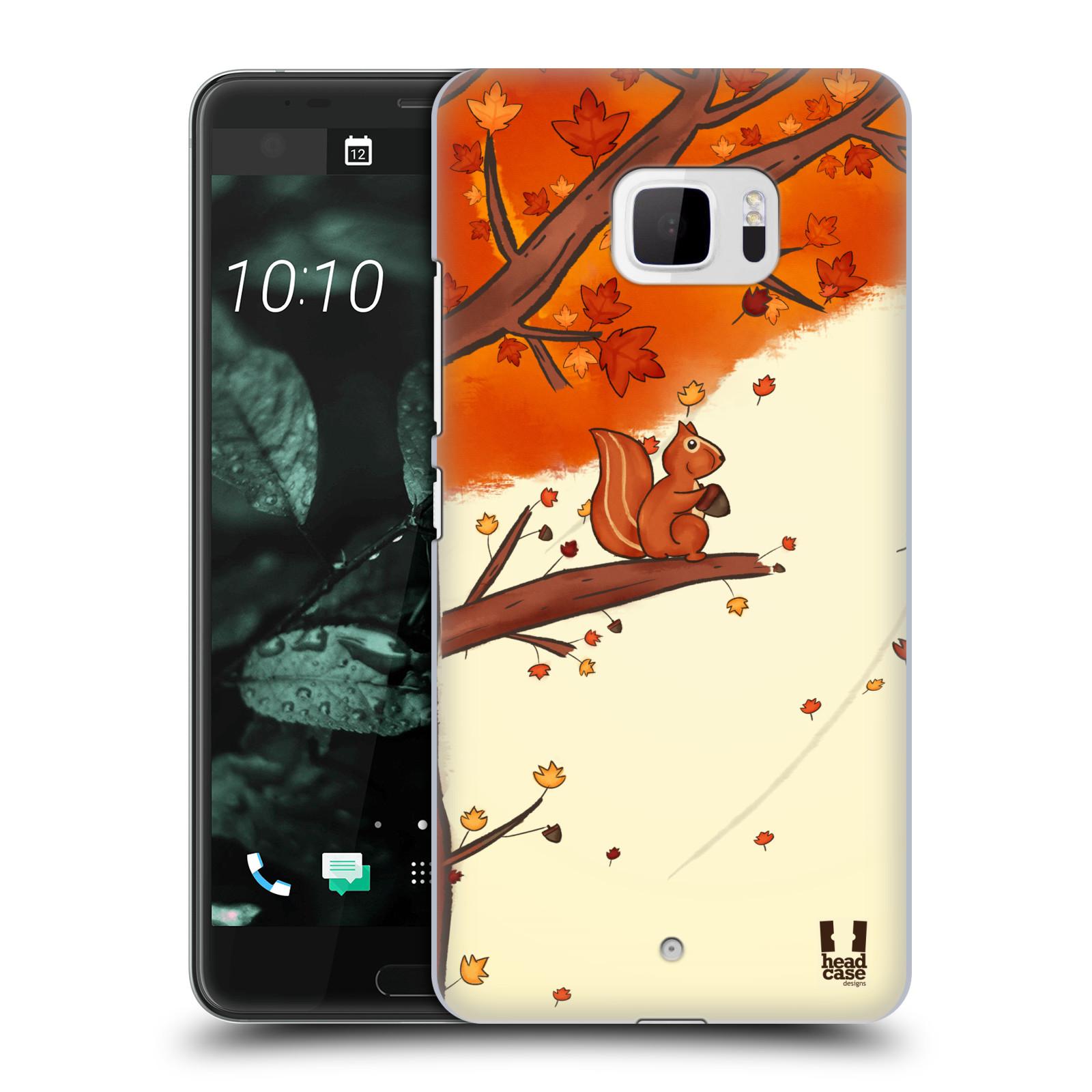 Plastové pouzdro na mobil HTC U Ultra Head Case - PODZIMNÍ VEVERKA (Plastový kryt či obal na mobilní telefon HTC U Ultra (99HALT015-00))