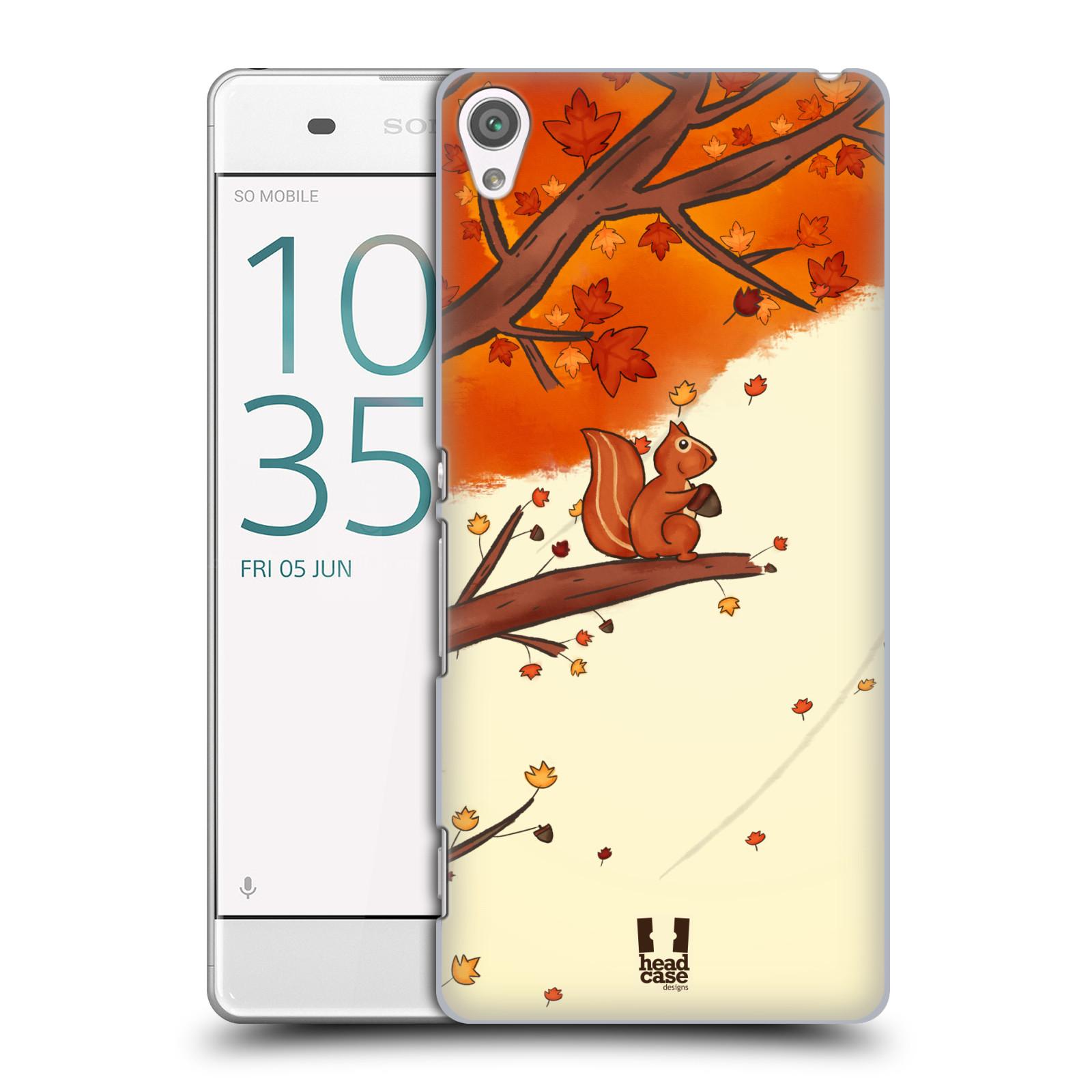 Plastové pouzdro na mobil Sony Xperia XA HEAD CASE PODZIMNÍ VEVERKA