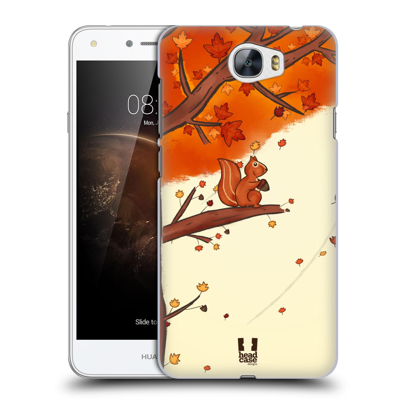 Plastové pouzdro na mobil Huawei Y5 II HEAD CASE PODZIMNÍ VEVERKA