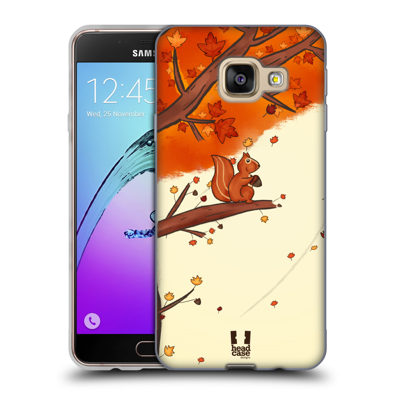 Silikonové pouzdro na mobil Samsung Galaxy A3 (2016) HEAD CASE PODZIMNÍ VEVERKA