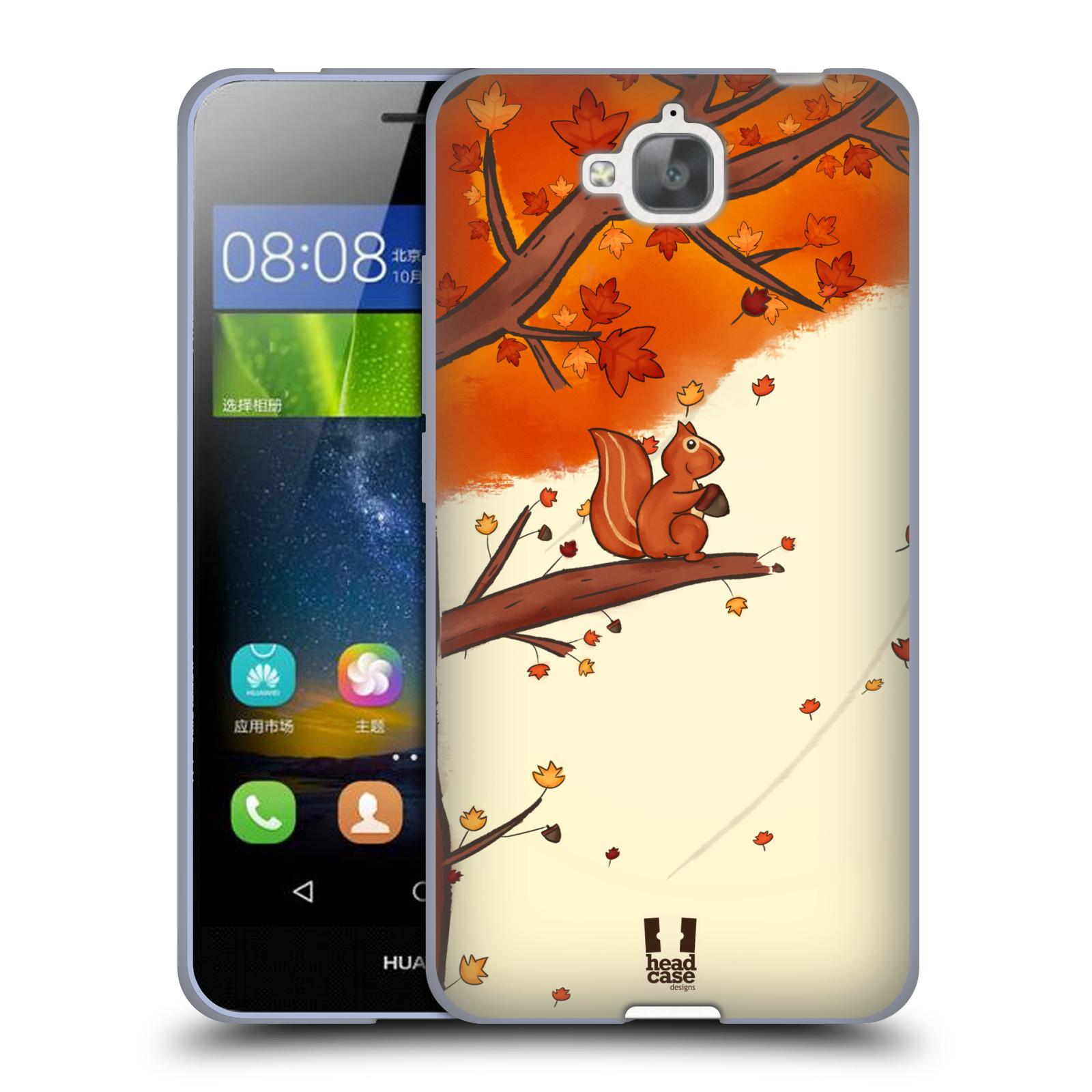 Silikonové pouzdro na mobil Huawei Y6 Pro Dual Sim HEAD CASE PODZIMNÍ VEVERKA