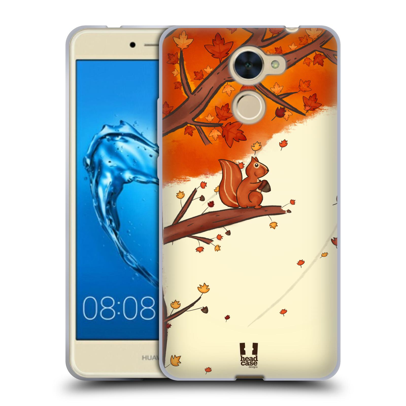 Silikonové pouzdro na mobil Huawei Y7 - Head Case - PODZIMNÍ VEVERKA