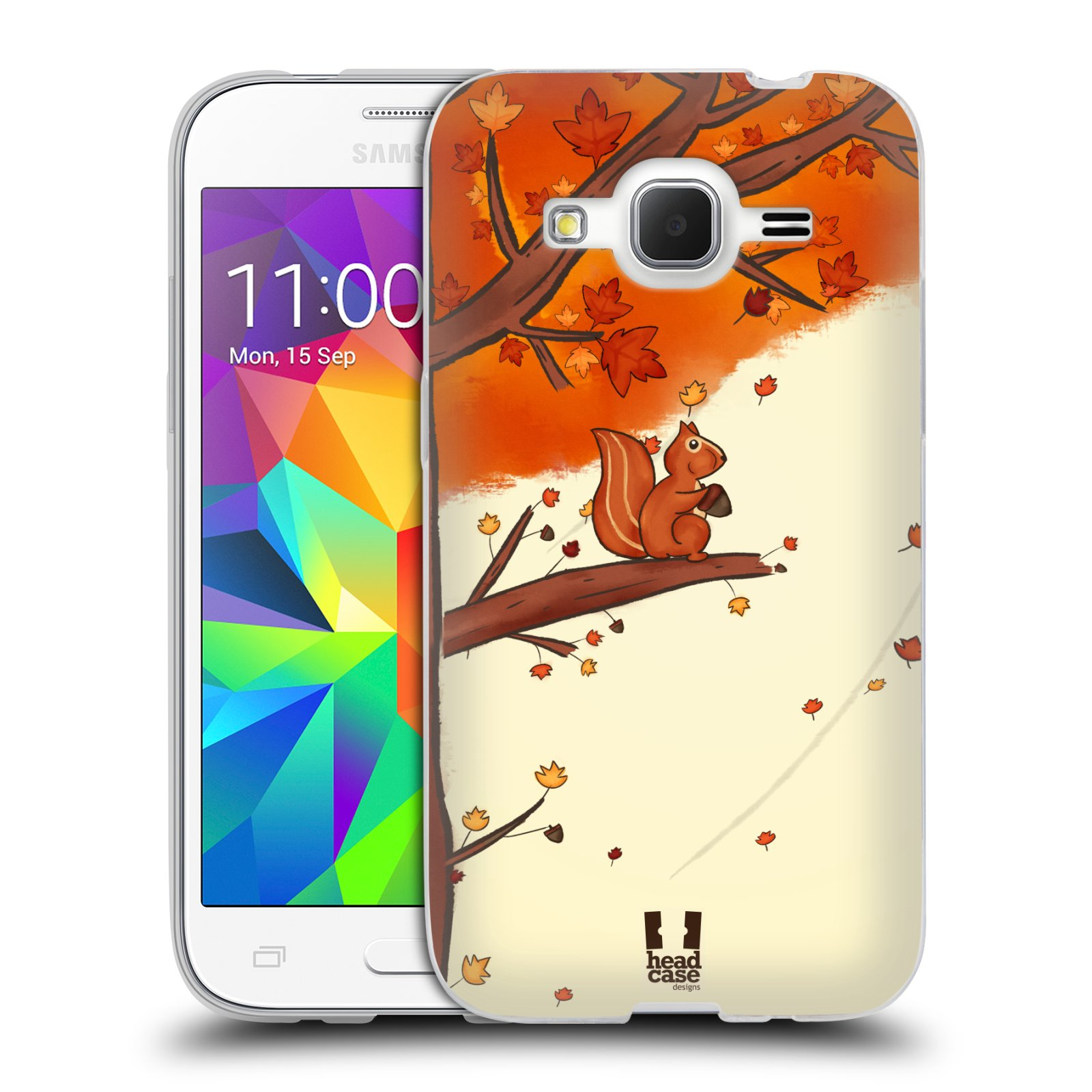 Silikonové pouzdro na mobil Samsung Galaxy Core Prime LTE HEAD CASE PODZIMNÍ VEVERKA