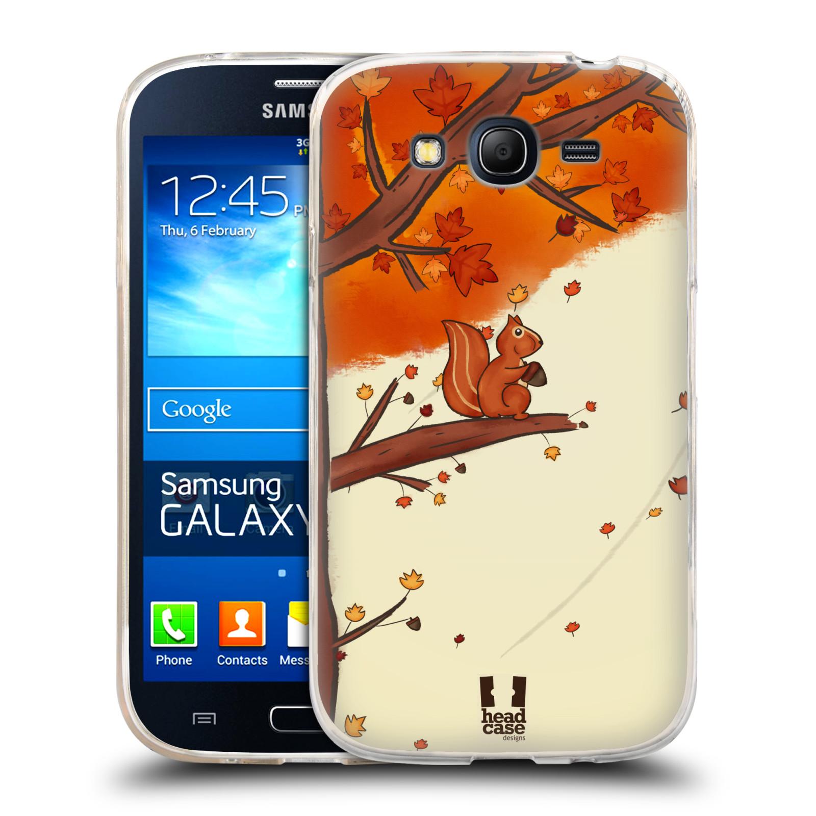 Silikonové pouzdro na mobil Samsung Galaxy Grand Neo Plus HEAD CASE PODZIMNÍ VEVERKA