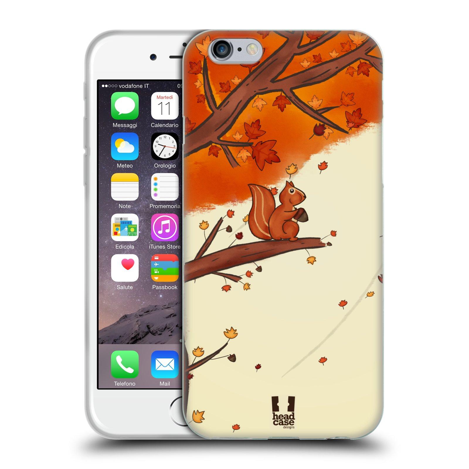 Silikonové pouzdro na mobil Apple iPhone 6 a 6S HEAD CASE PODZIMNÍ VEVERKA