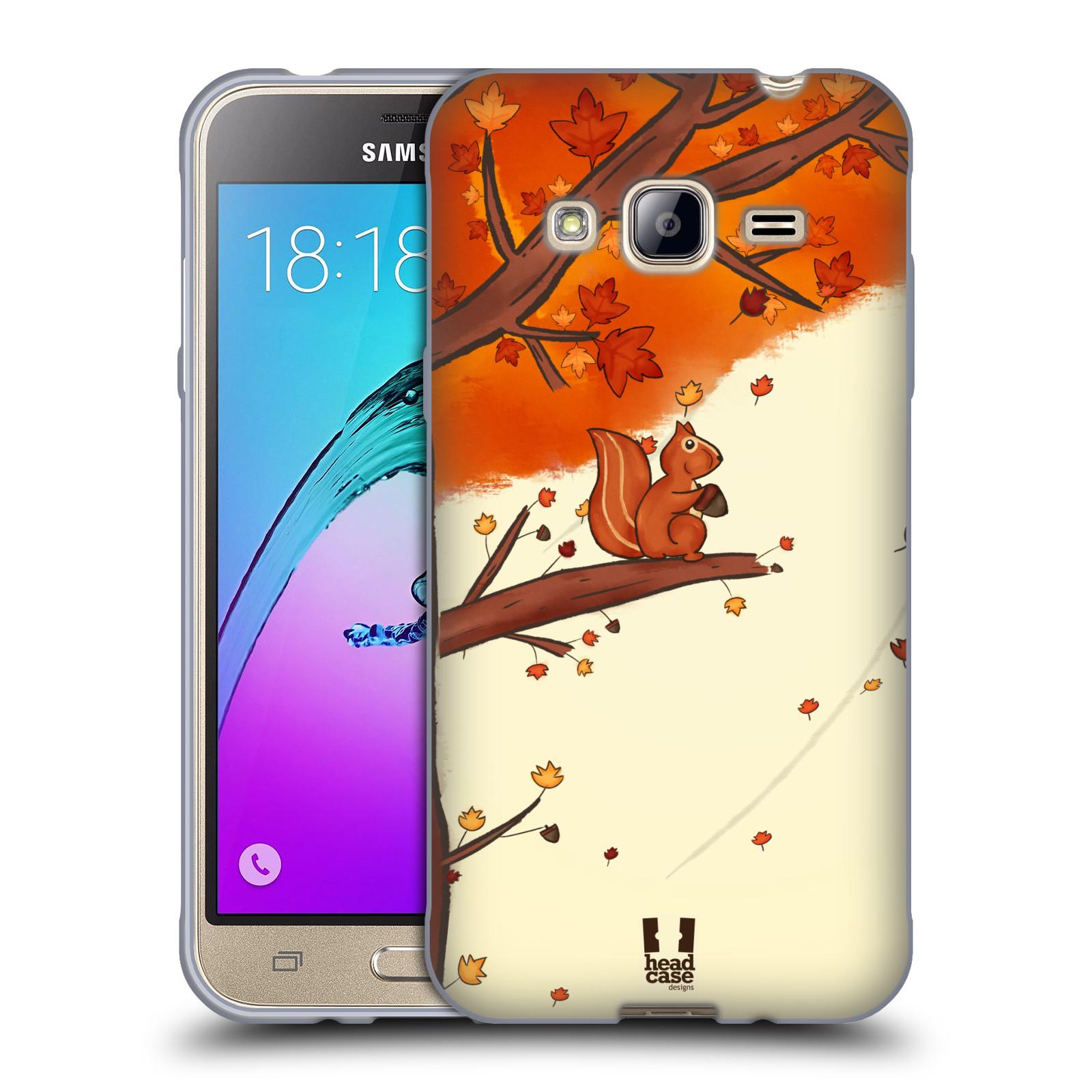 Silikonové pouzdro na mobil Samsung Galaxy J3 (2016) HEAD CASE PODZIMNÍ VEVERKA