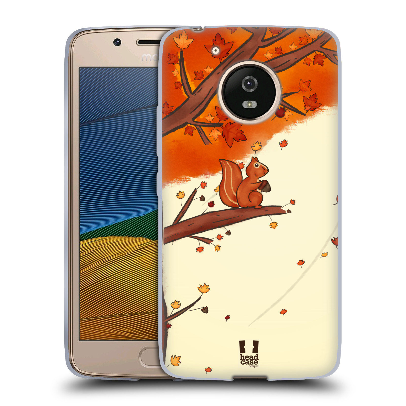 Silikonové pouzdro na mobil Lenovo Moto G5 - Head Case PODZIMNÍ VEVERKA