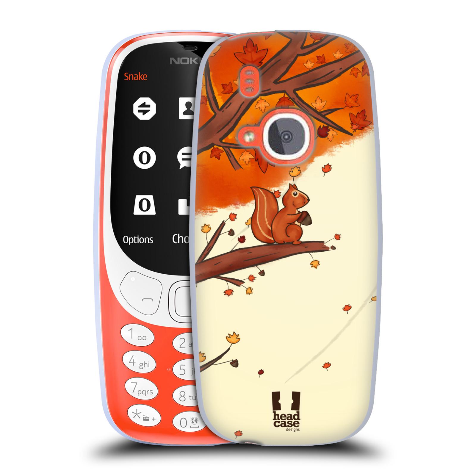 Silikonové pouzdro na mobil Nokia 3310 - Head Case - PODZIMNÍ VEVERKA