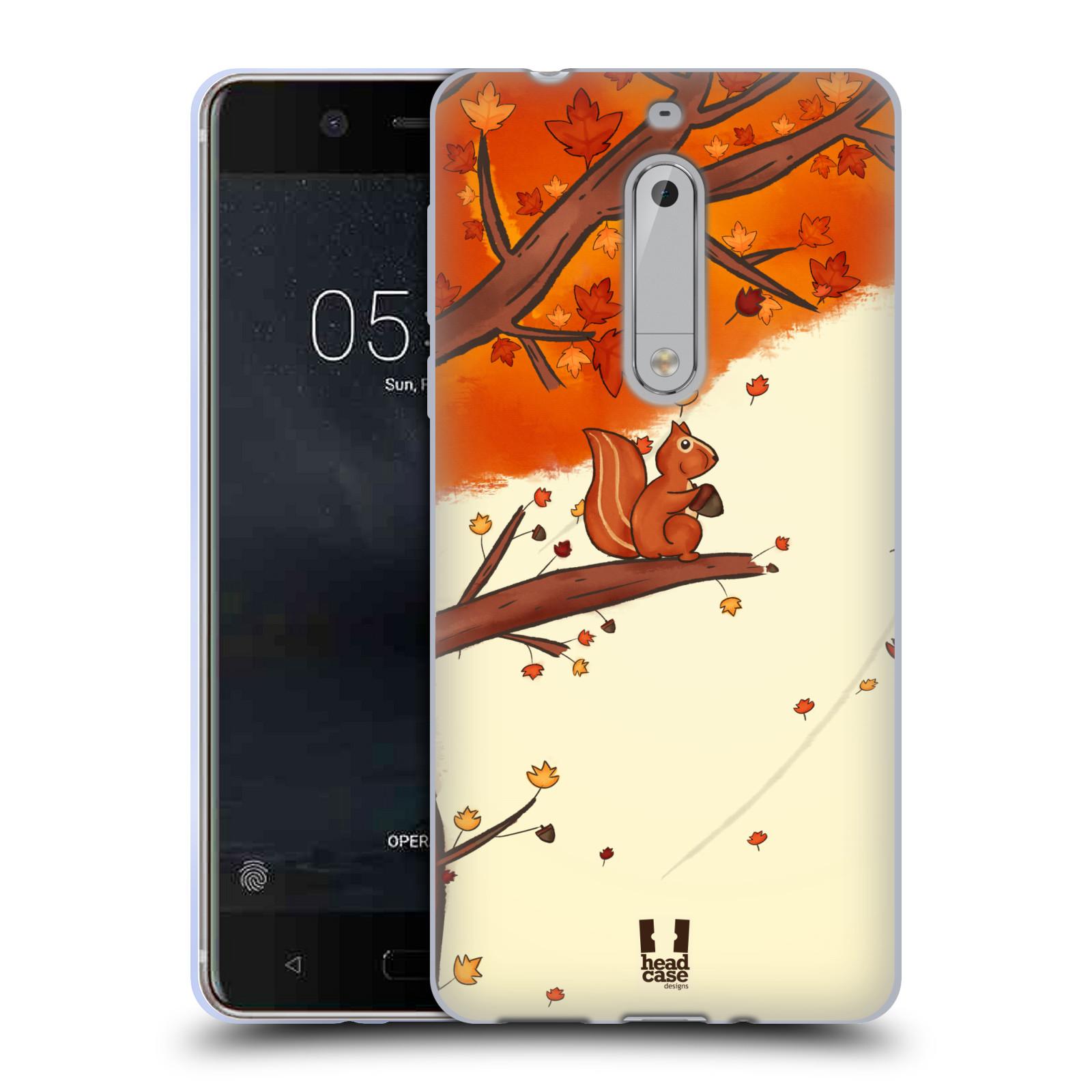 Silikonové pouzdro na mobil Nokia 5 Head Case - PODZIMNÍ VEVERKA