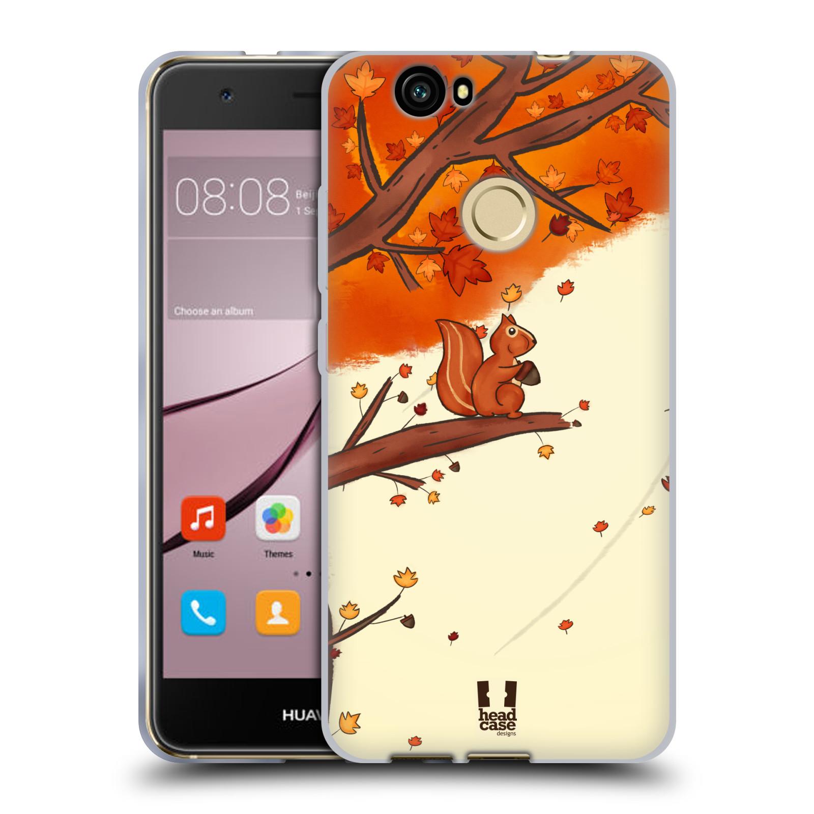 Silikonové pouzdro na mobil Huawei Nova - Head Case - PODZIMNÍ VEVERKA