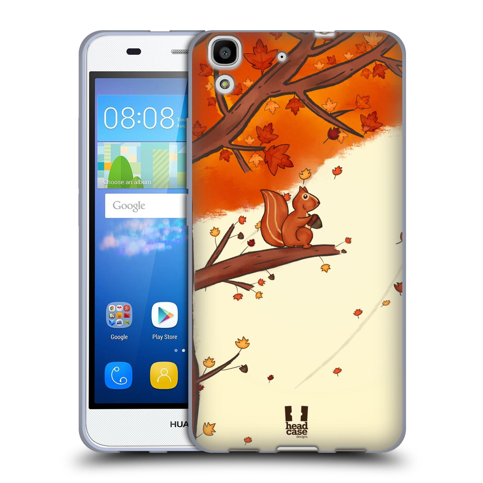 Silikonové pouzdro na mobil Huawei Y6 HEAD CASE PODZIMNÍ VEVERKA