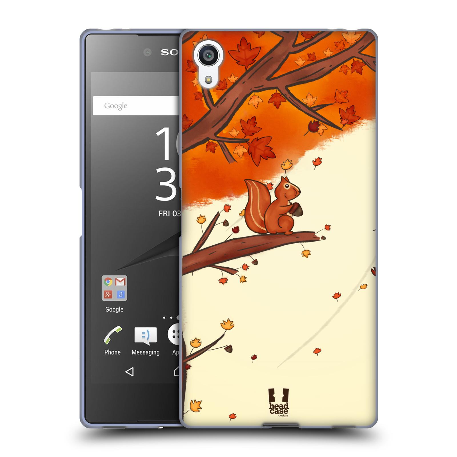 Silikonové pouzdro na mobil Sony Xperia Z5 Premium HEAD CASE PODZIMNÍ VEVERKA