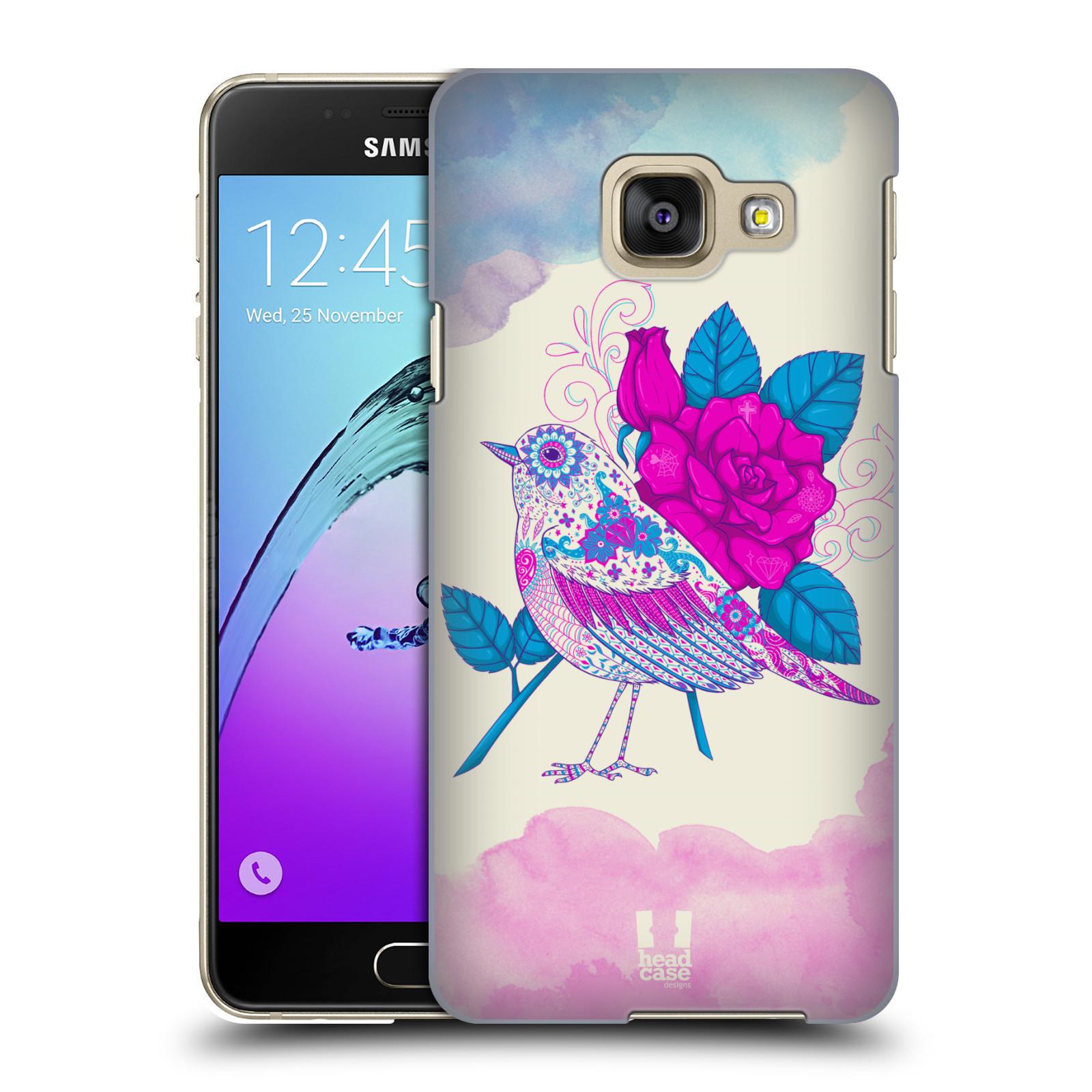 Plastové pouzdro na mobil Samsung Galaxy A3 (2016) HEAD CASE PTÁČEK FUCHSIA