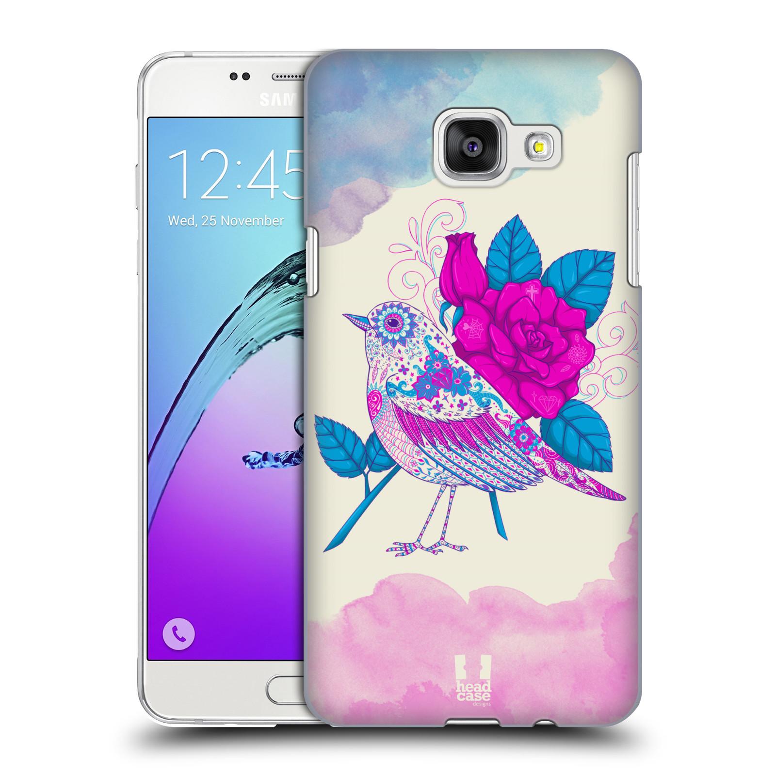 Plastové pouzdro na mobil Samsung Galaxy A5 (2016) HEAD CASE PTÁČEK FUCHSIA