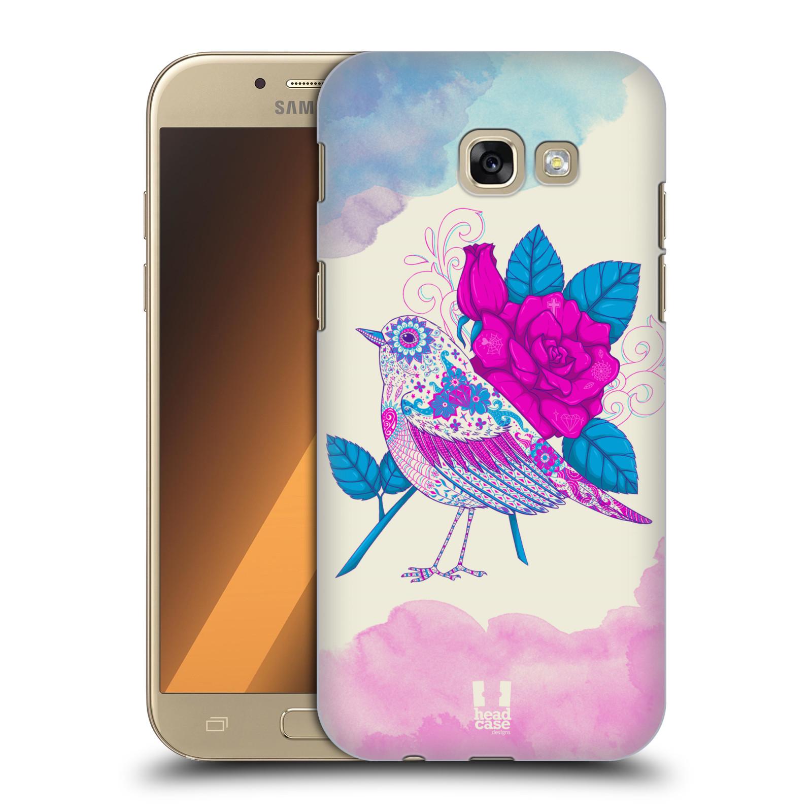 Plastové pouzdro na mobil Samsung Galaxy A5 (2017) HEAD CASE PTÁČEK FUCHSIA
