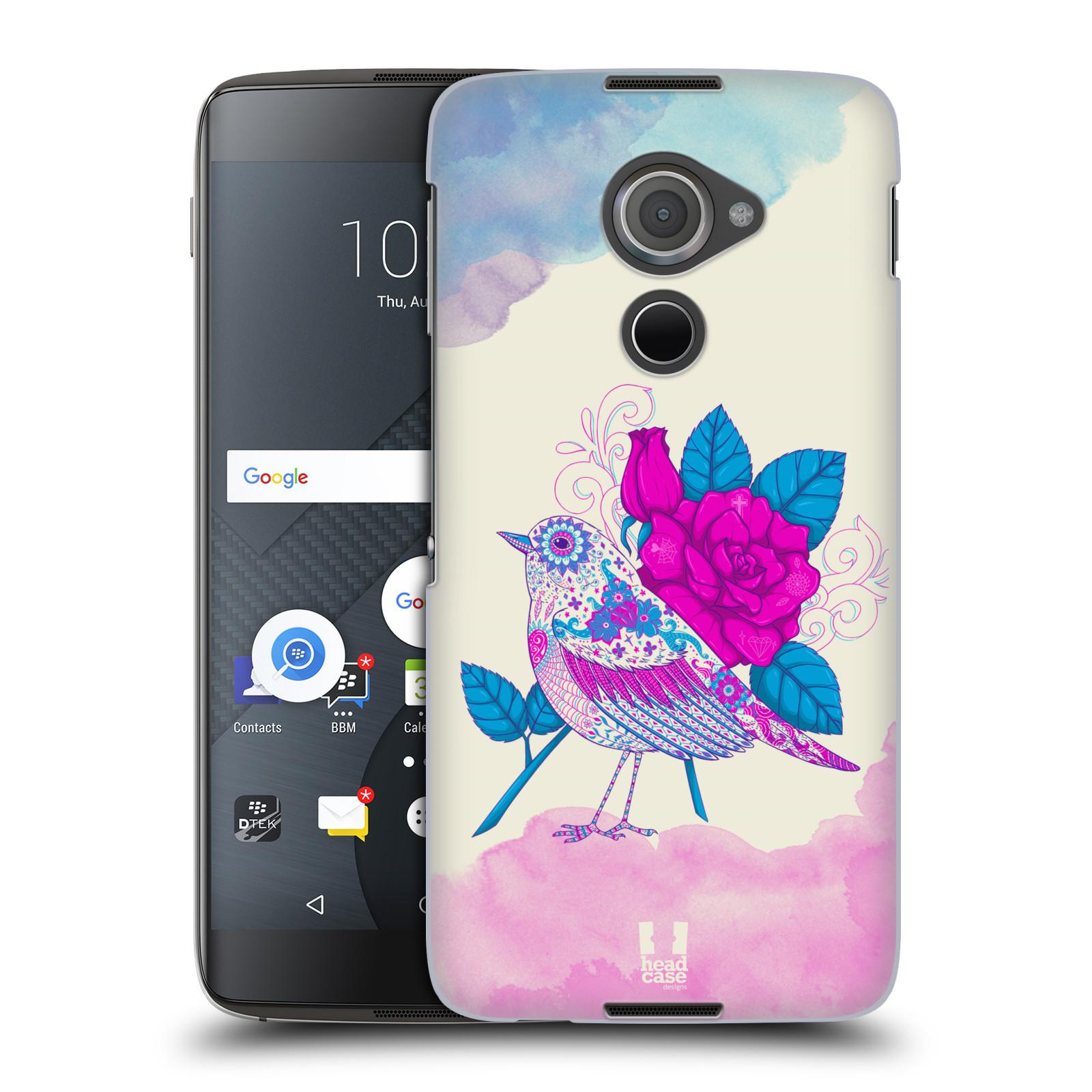 Plastové pouzdro na mobil Blackberry DTEK60 (Argon) - Head Case PTÁČEK FUCHSIA