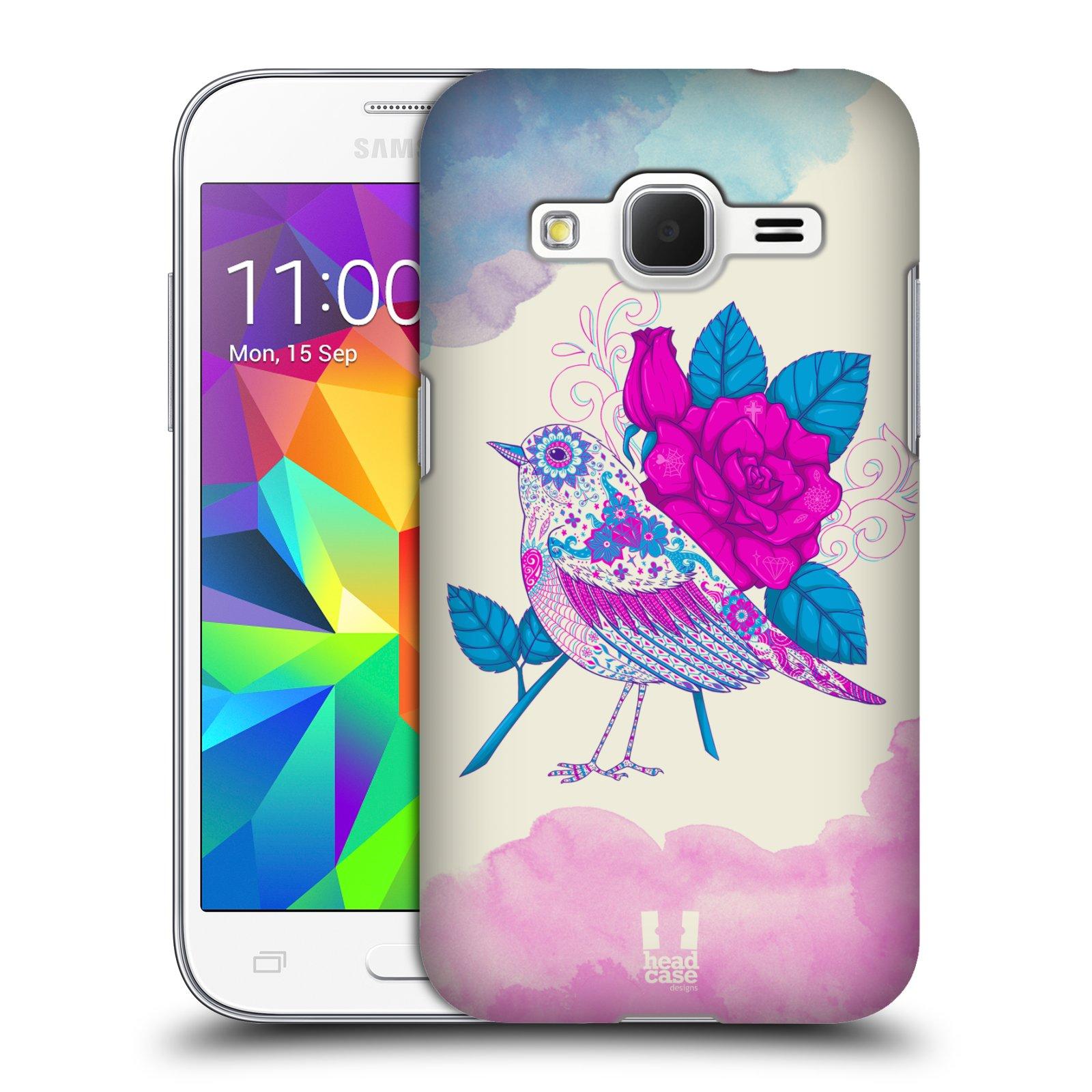 Plastové pouzdro na mobil Samsung Galaxy Core Prime LTE HEAD CASE PTÁČEK FUCHSIA