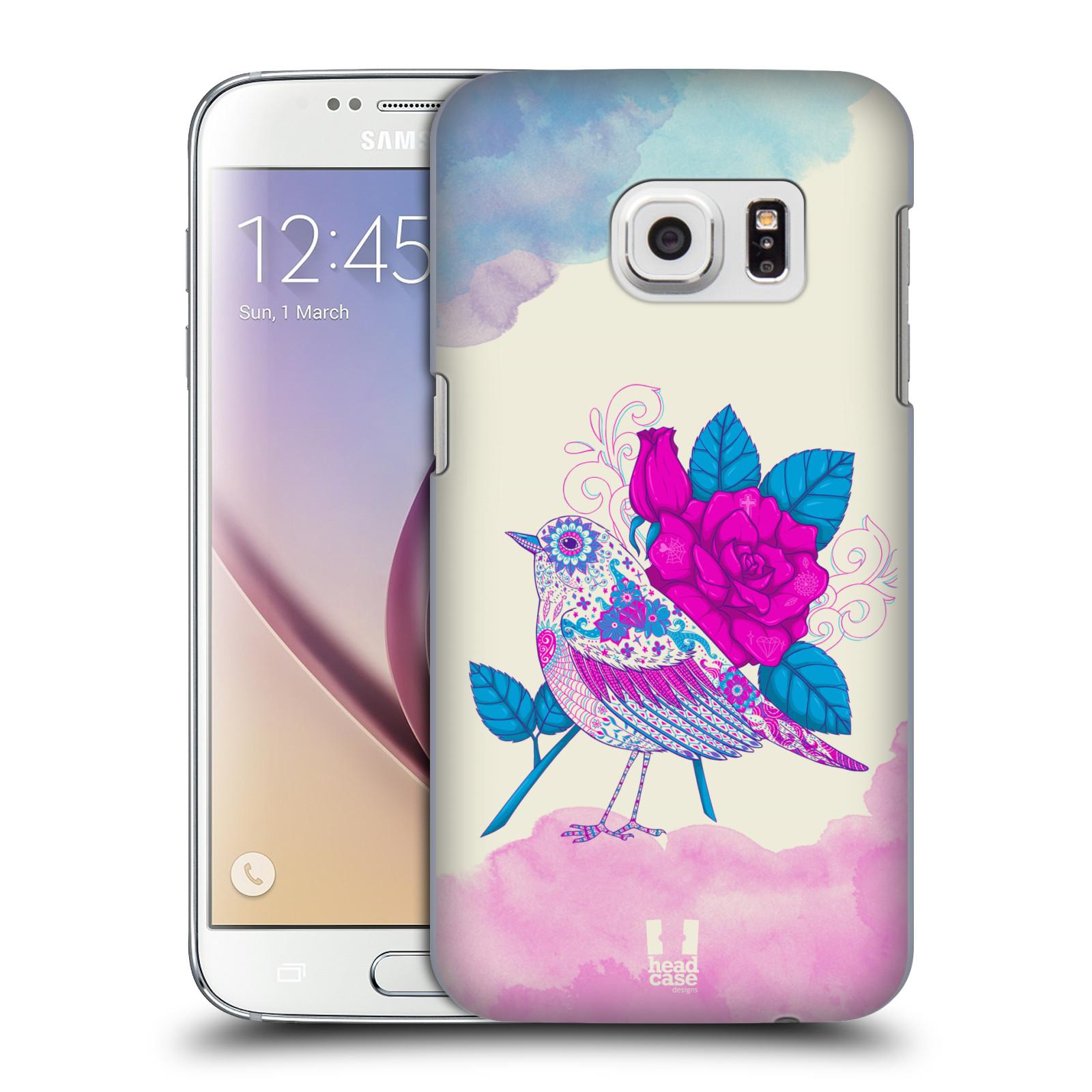 Plastové pouzdro na mobil Samsung Galaxy S7 HEAD CASE PTÁČEK FUCHSIA (Kryt či obal na mobilní telefon Samsung Galaxy S7 SM-G930F)
