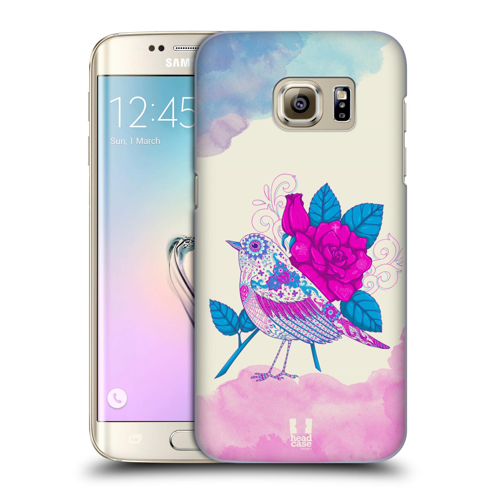 Plastové pouzdro na mobil Samsung Galaxy S7 Edge HEAD CASE PTÁČEK FUCHSIA