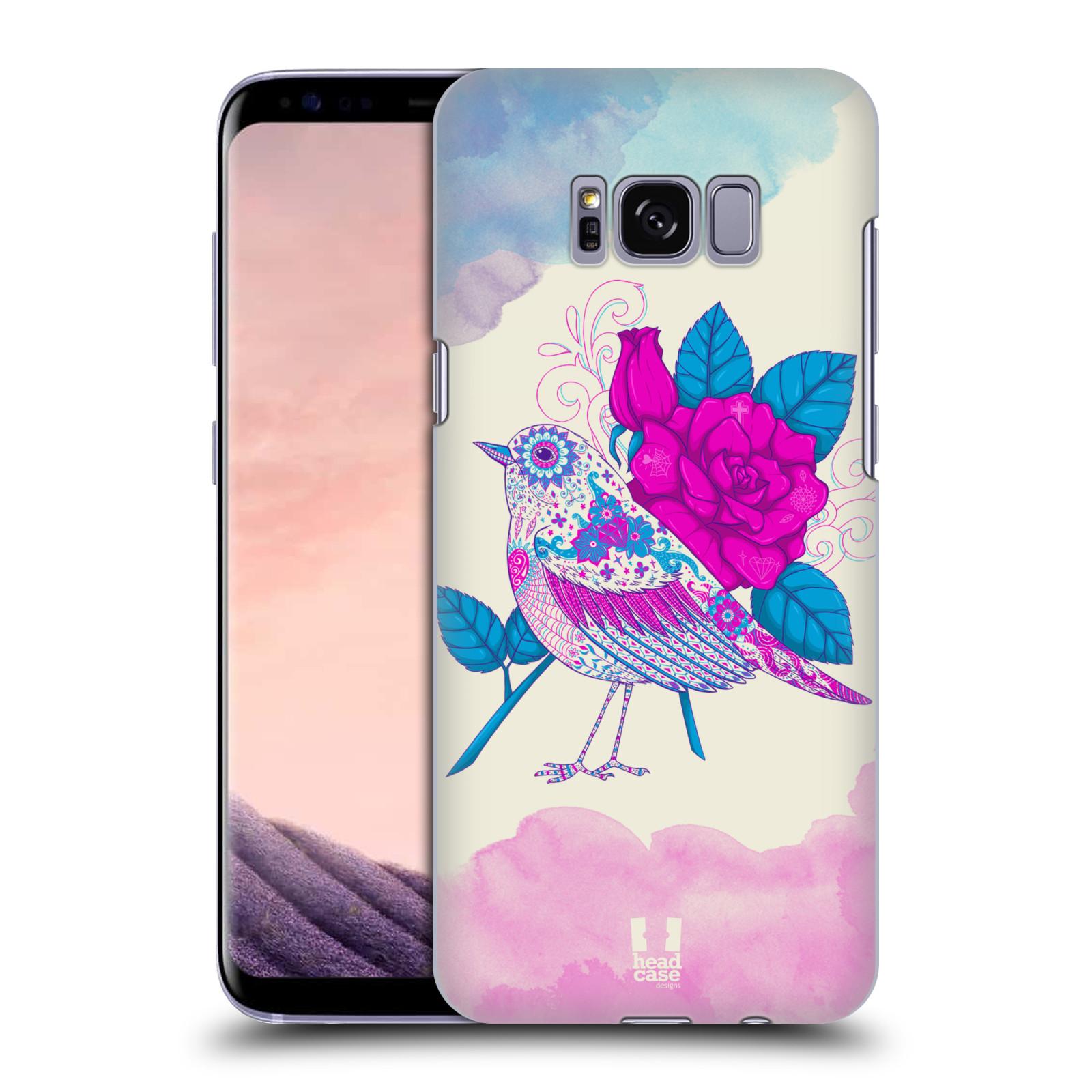 Plastové pouzdro na mobil Samsung Galaxy S8 Head Case PTÁČEK FUCHSIA