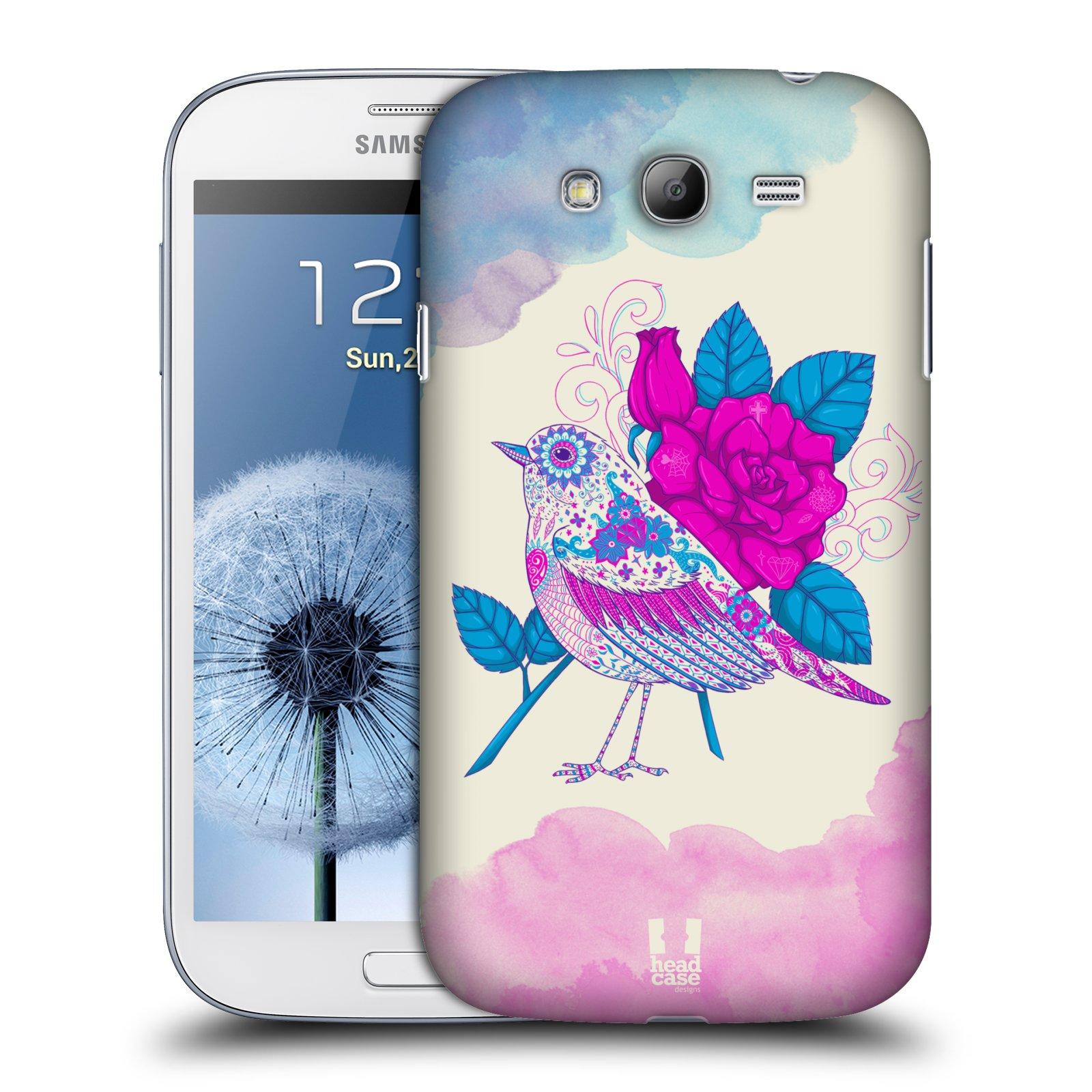 Plastové pouzdro na mobil Samsung Galaxy Grand Neo Plus HEAD CASE PTÁČEK FUCHSIA