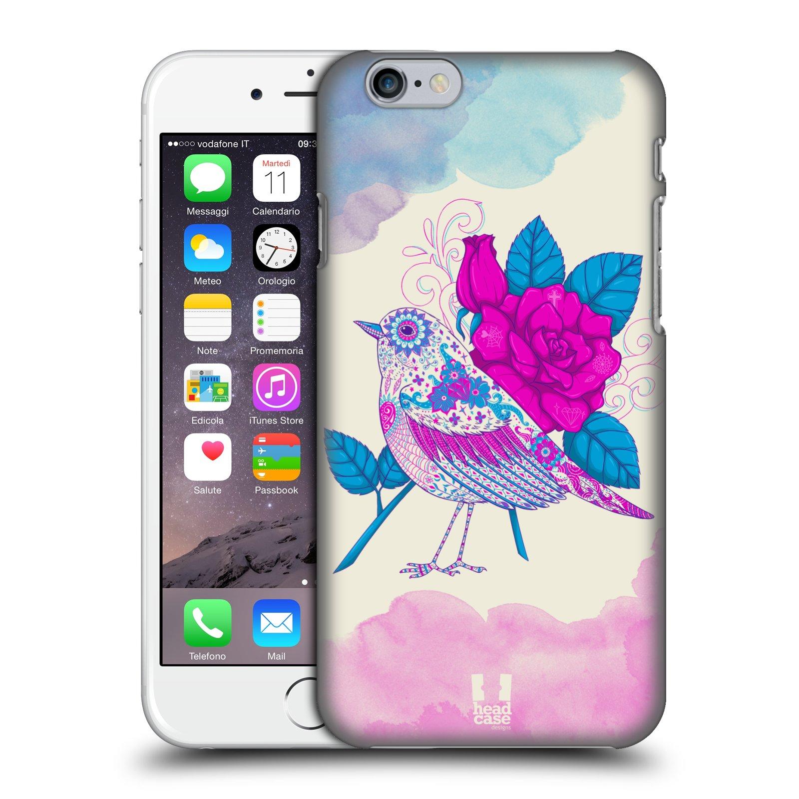Plastové pouzdro na mobil Apple iPhone 6 a 6S HEAD CASE PTÁČEK FUCHSIA