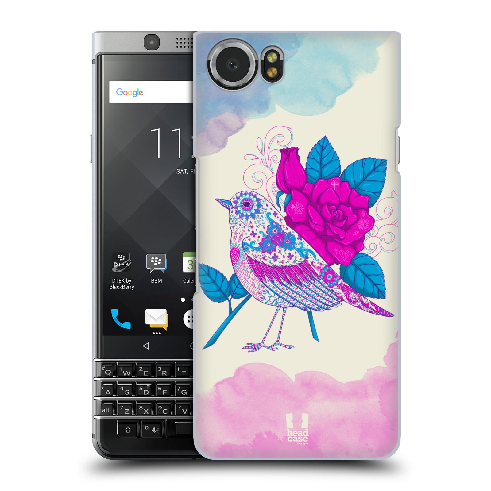 Plastové pouzdro na mobil BlackBerry KEYone - Head Case - PTÁČEK FUCHSIA