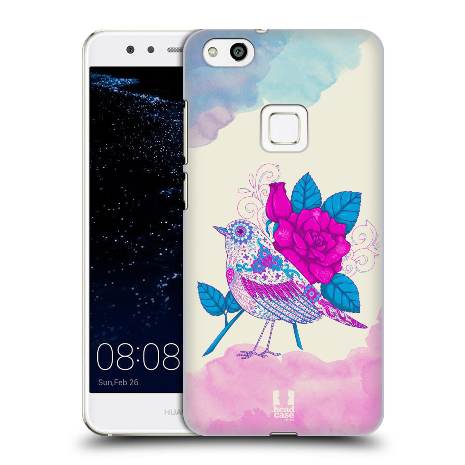 Plastové pouzdro na mobil Huawei P10 Lite Head Case - PTÁČEK FUCHSIA (Plastový kryt či obal na mobilní telefon Huawei P10 Lite Dual SIM (LX1/LX1A))